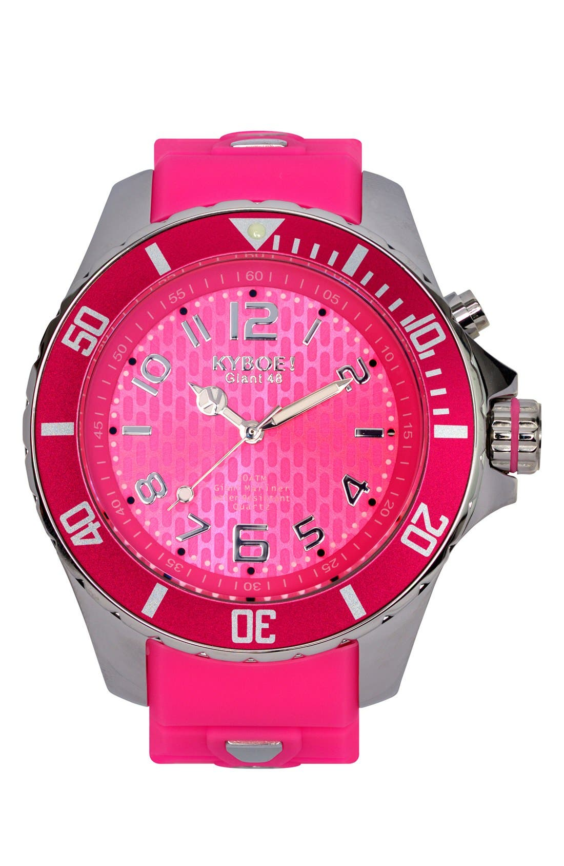 'Power' Silicone Strap Watch, 48mm,                         Main,                         color, 655
