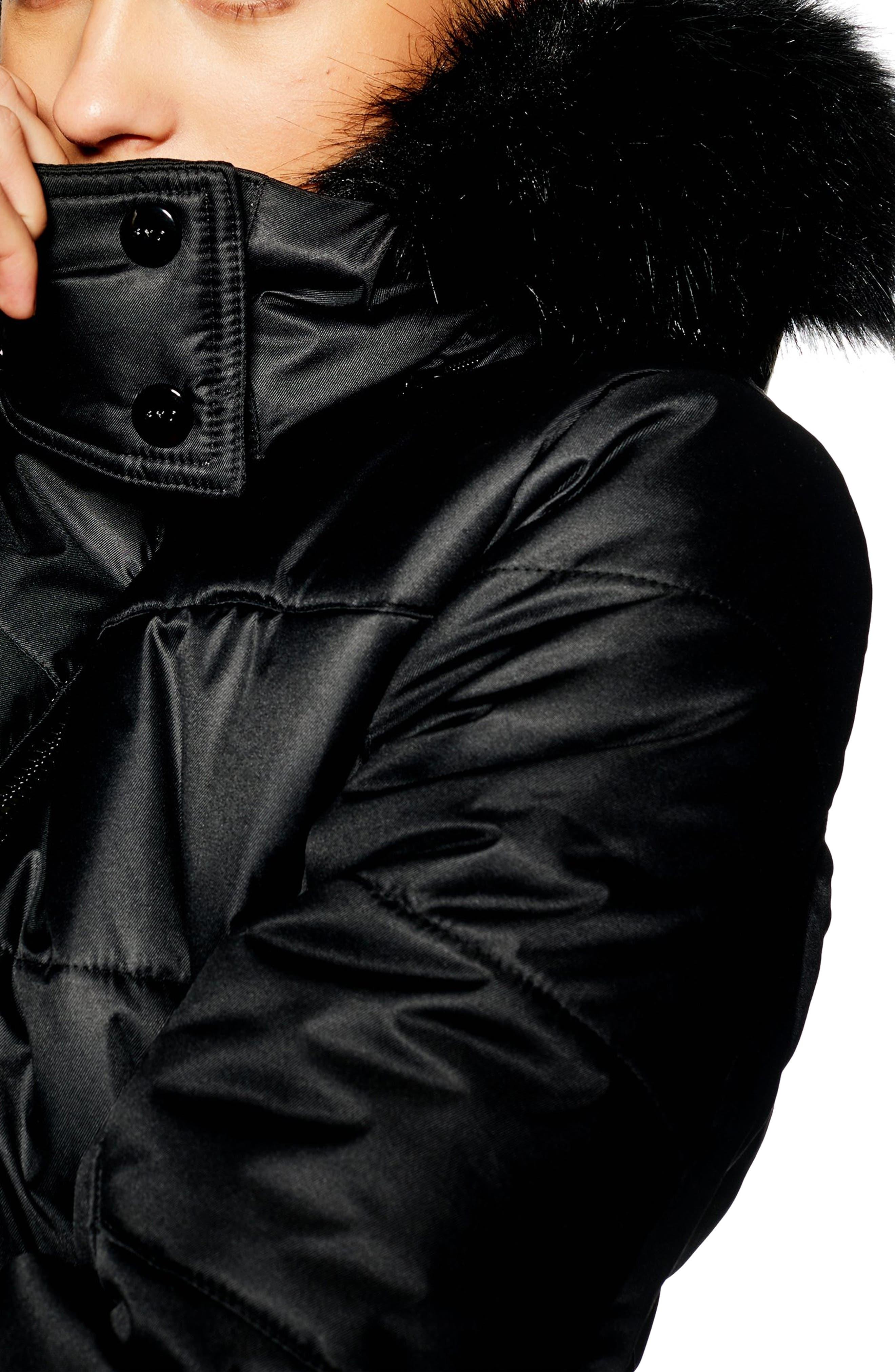 Sno Baby Ski Jacket,                             Alternate thumbnail 3, color,                             BLACK