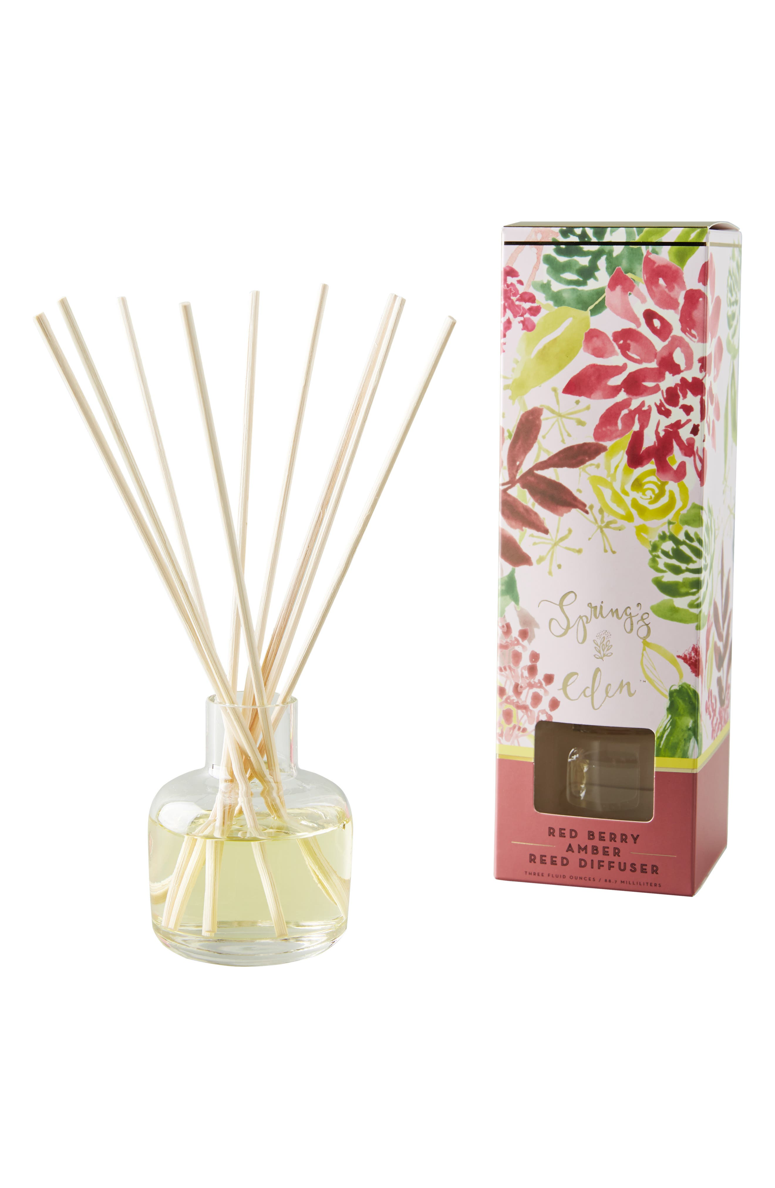 Spring's Eden Reed Diffuser,                             Alternate thumbnail 3, color,                             RED BERRY AMBER
