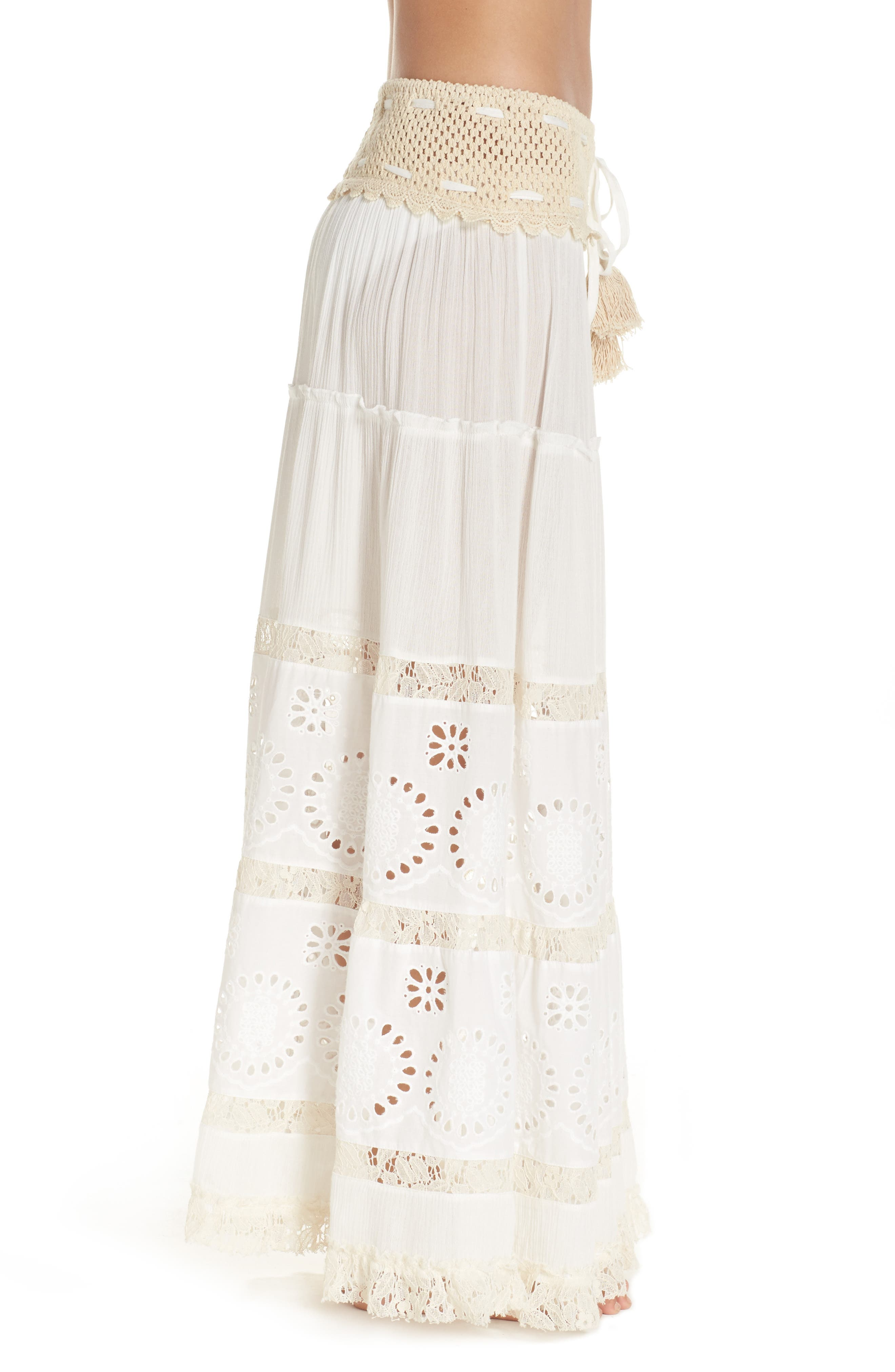 Cover-Up Maxi Skirt,                             Alternate thumbnail 3, color,                             900
