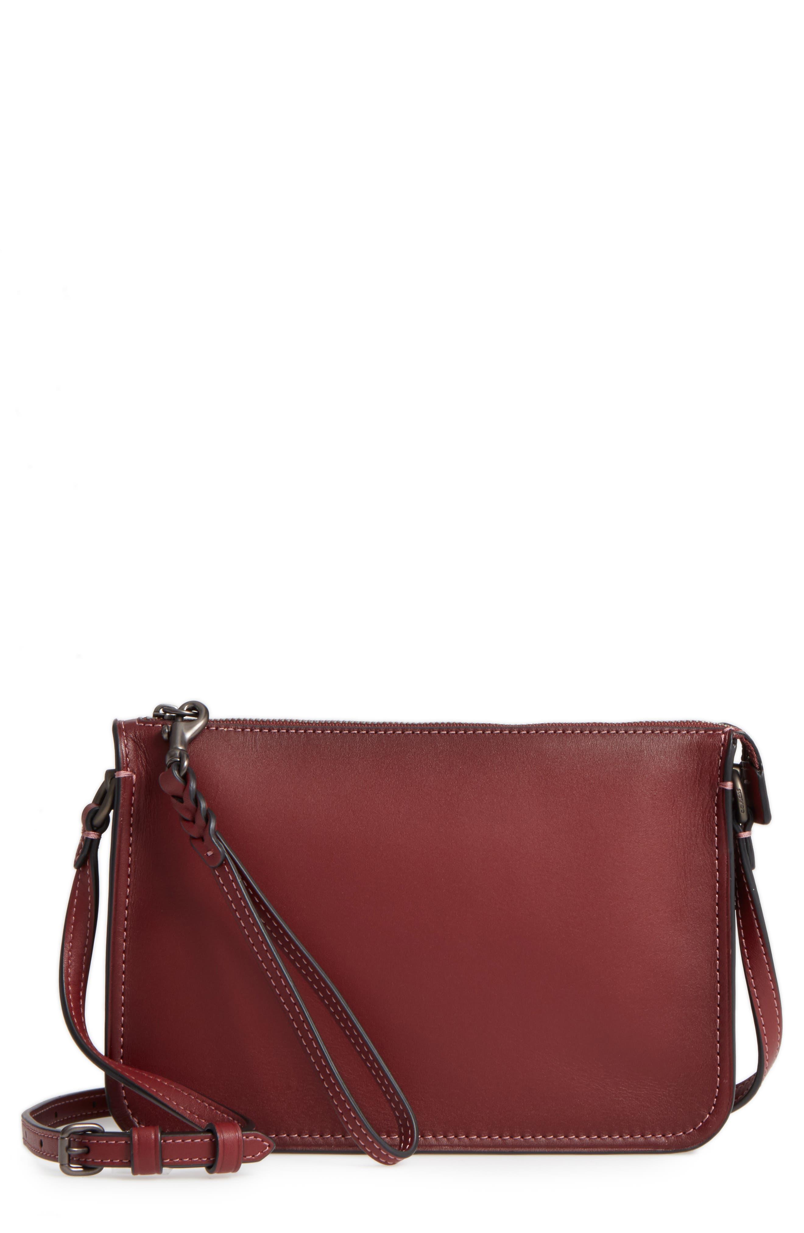 Soho Leather Crossbody Bag, Main, color, 614