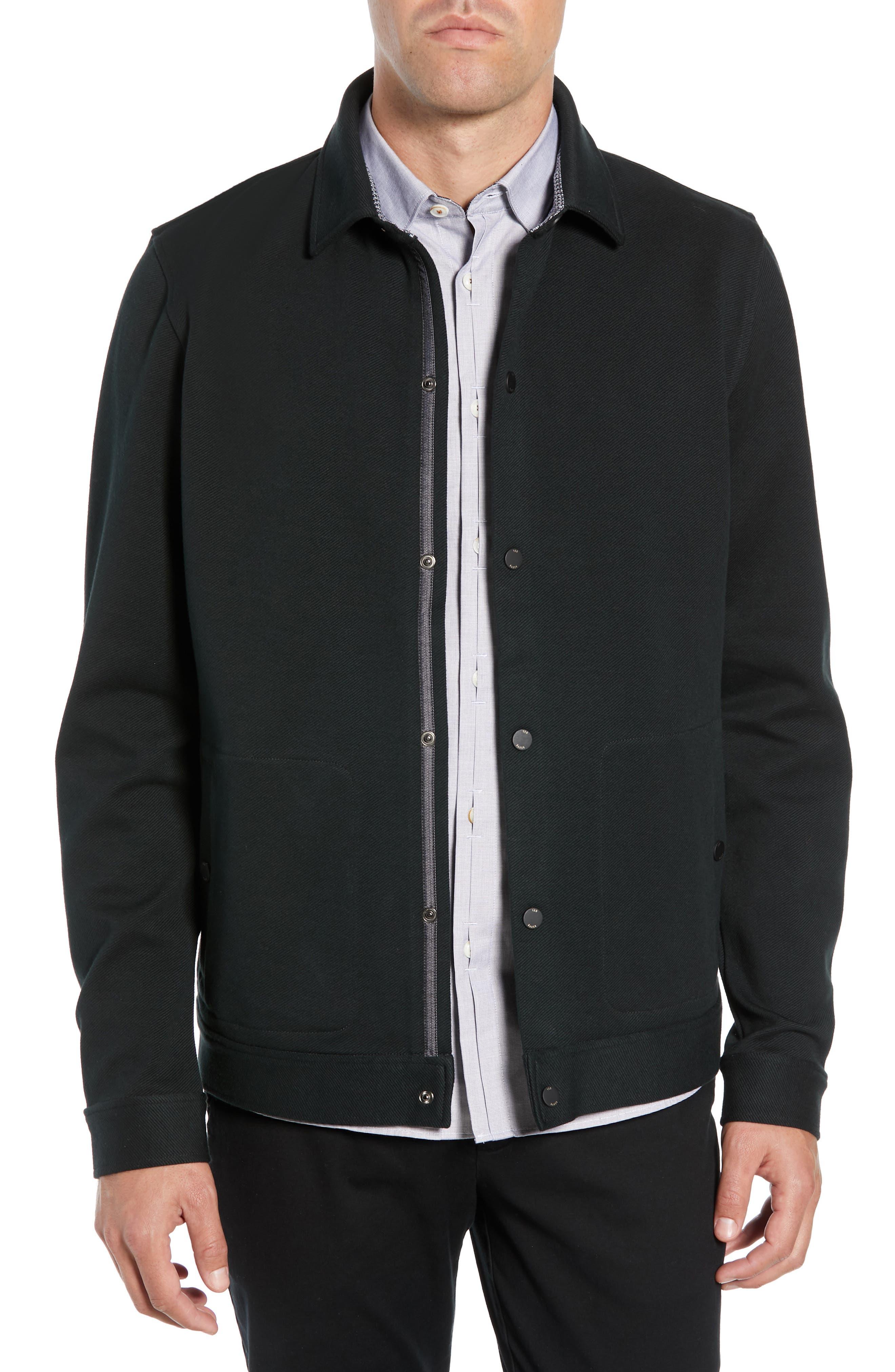 Danett Tall Twill Jacket,                         Main,                         color, BLACK