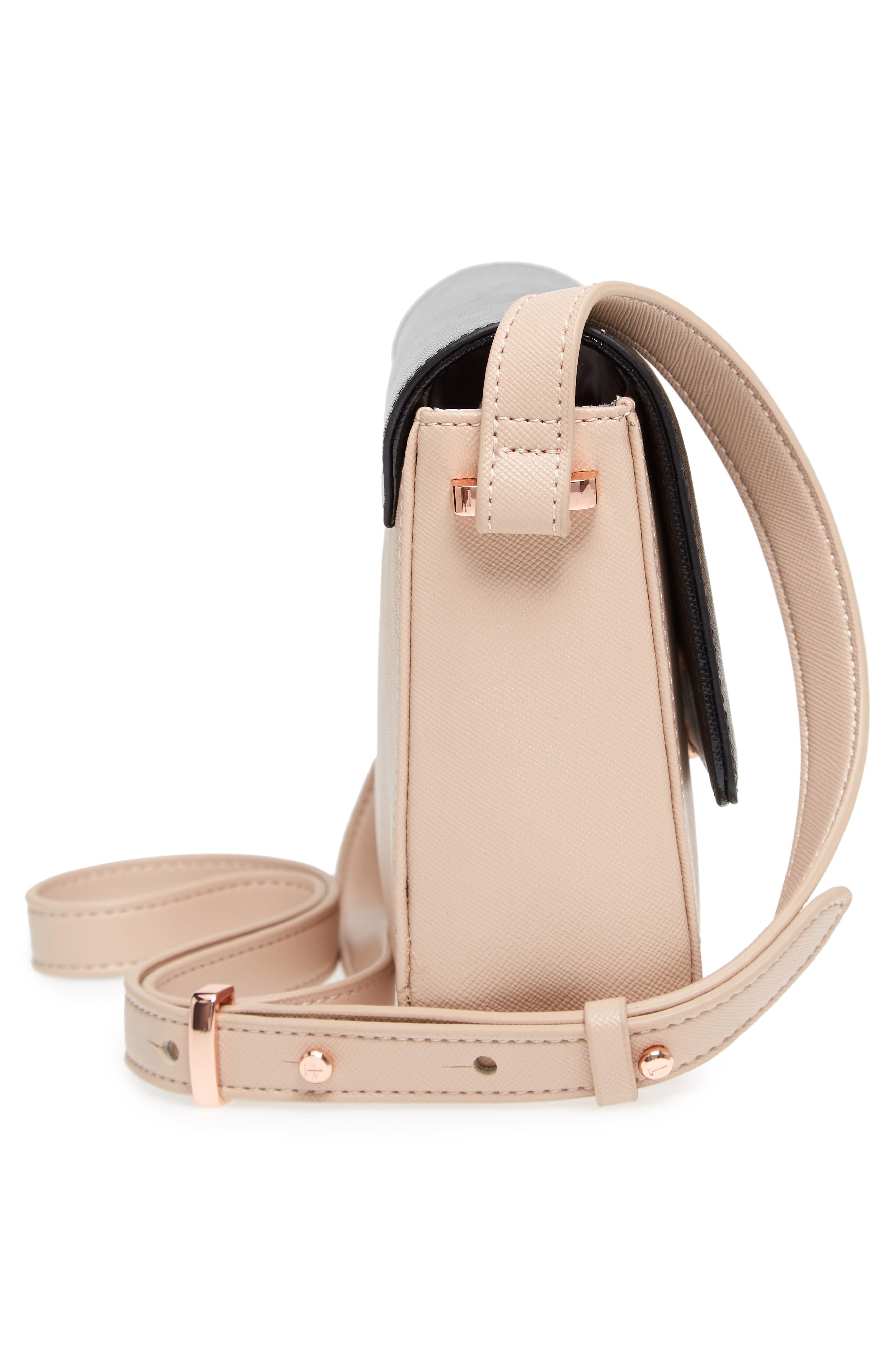 Demonda Faux Leather Crossbody Bag,                             Alternate thumbnail 10, color,