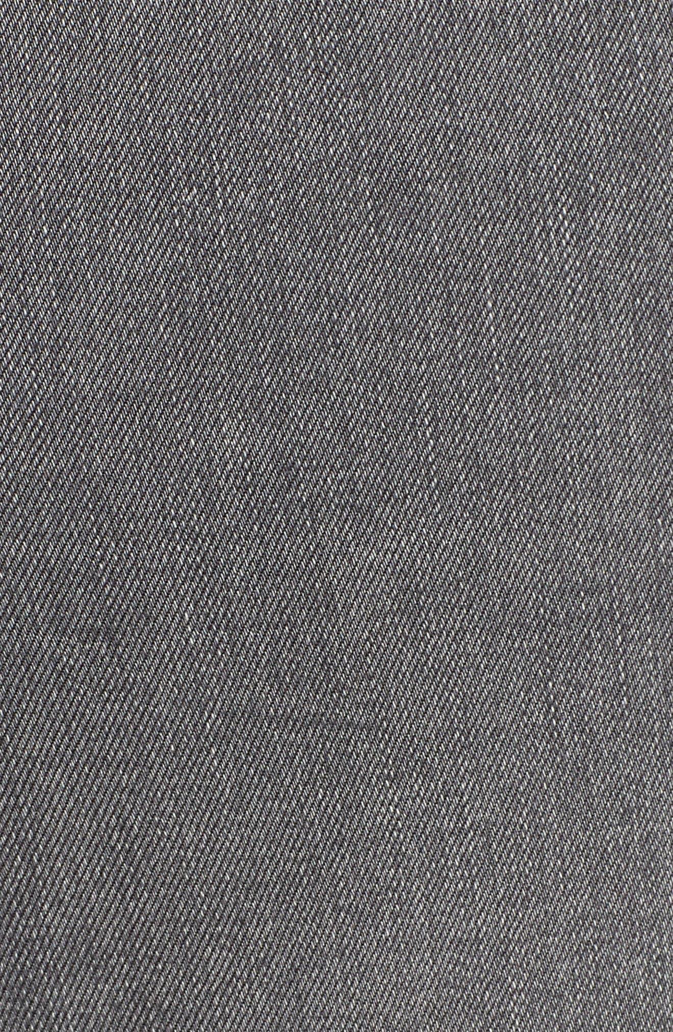 Joni Side Stripe Crop Skinny Jeans,                             Alternate thumbnail 6, color,                             GREY