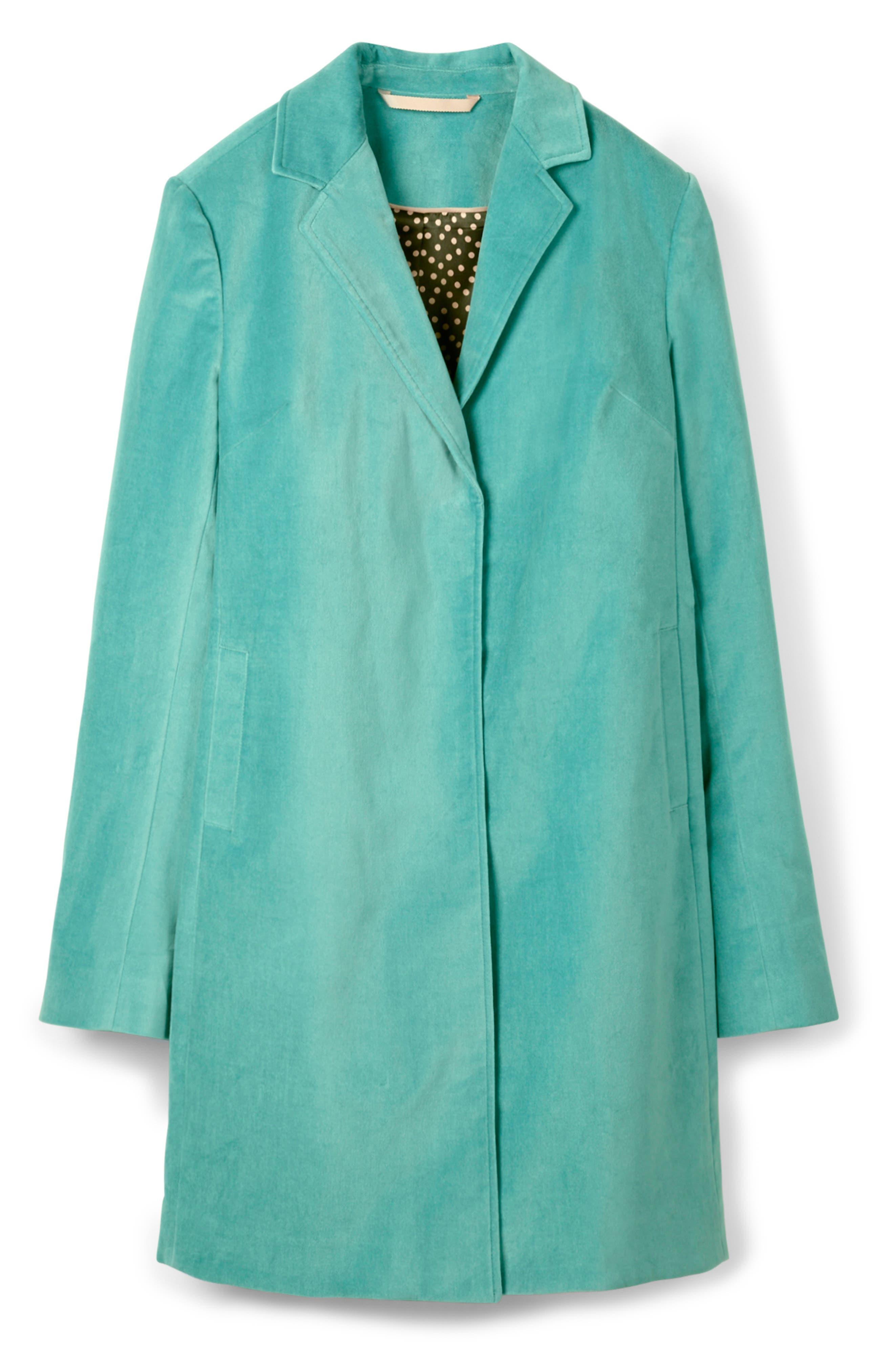 Sally Long Velvet Jacket,                             Alternate thumbnail 6, color,                             BREEZE BN764