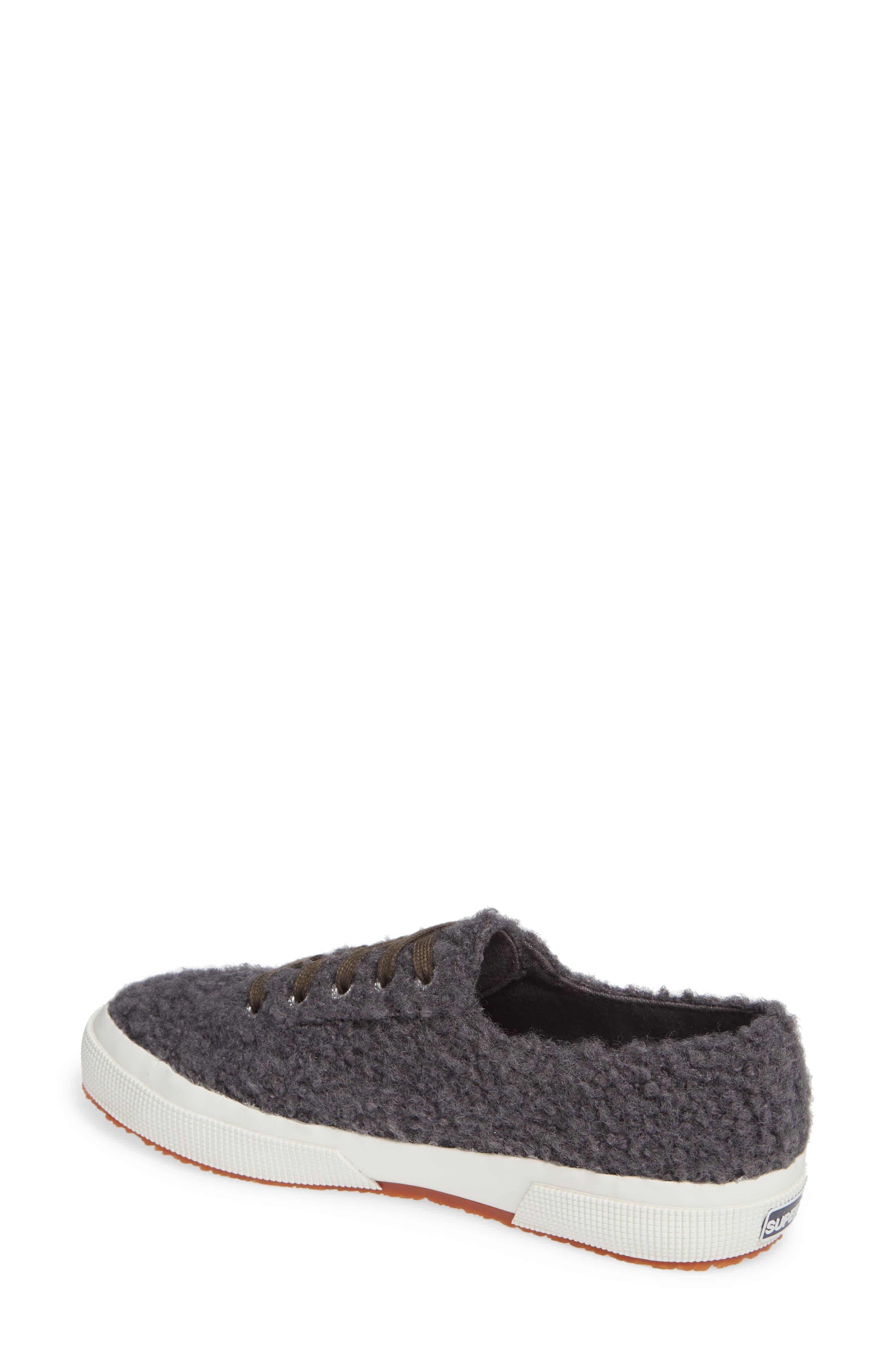 2759 Curly Wool Sneaker,                             Alternate thumbnail 2, color,                             DARK GREY/ GREY