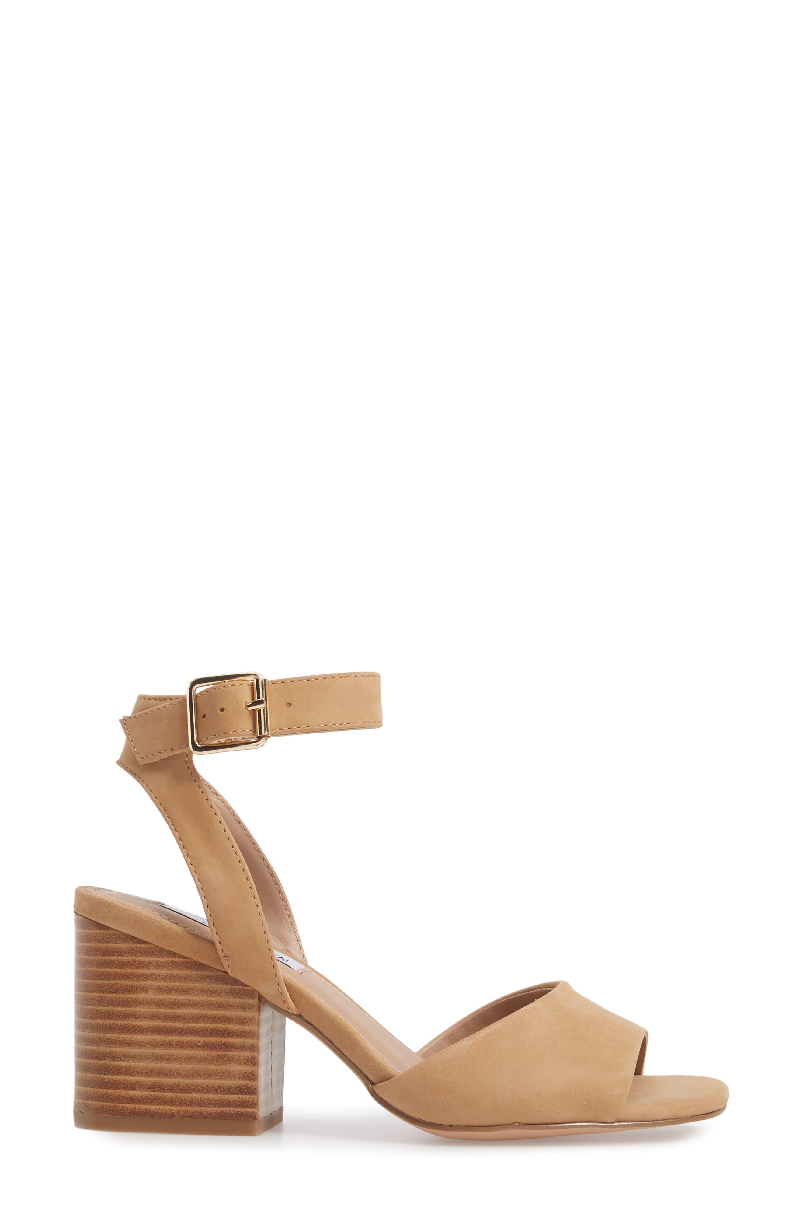 Devlin Block Heel Sandal,                             Alternate thumbnail 3, color,                             200