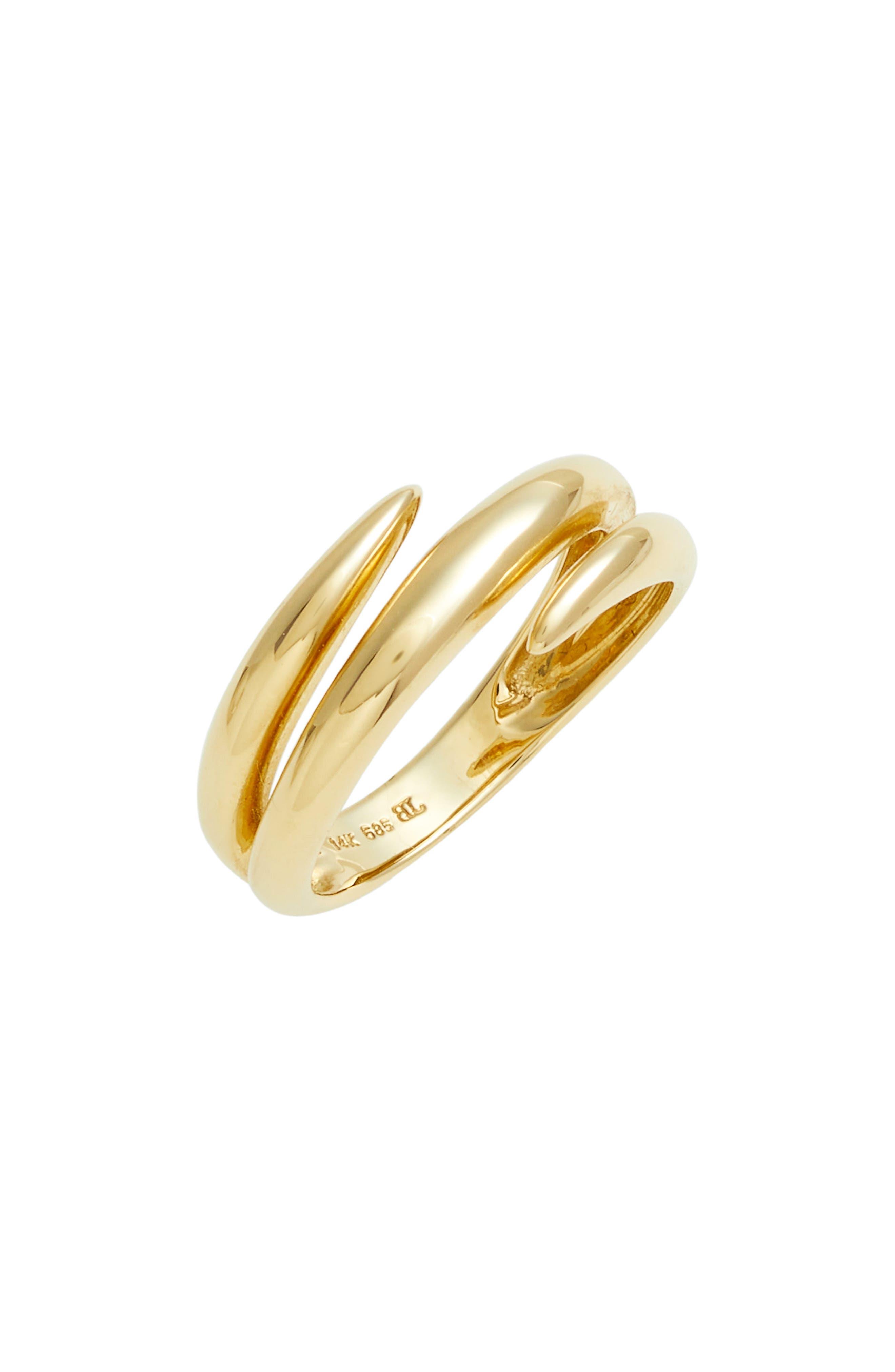 Ofira 14K Gold Coil Wrap Ring,                             Main thumbnail 1, color,                             YELLOW GOLD