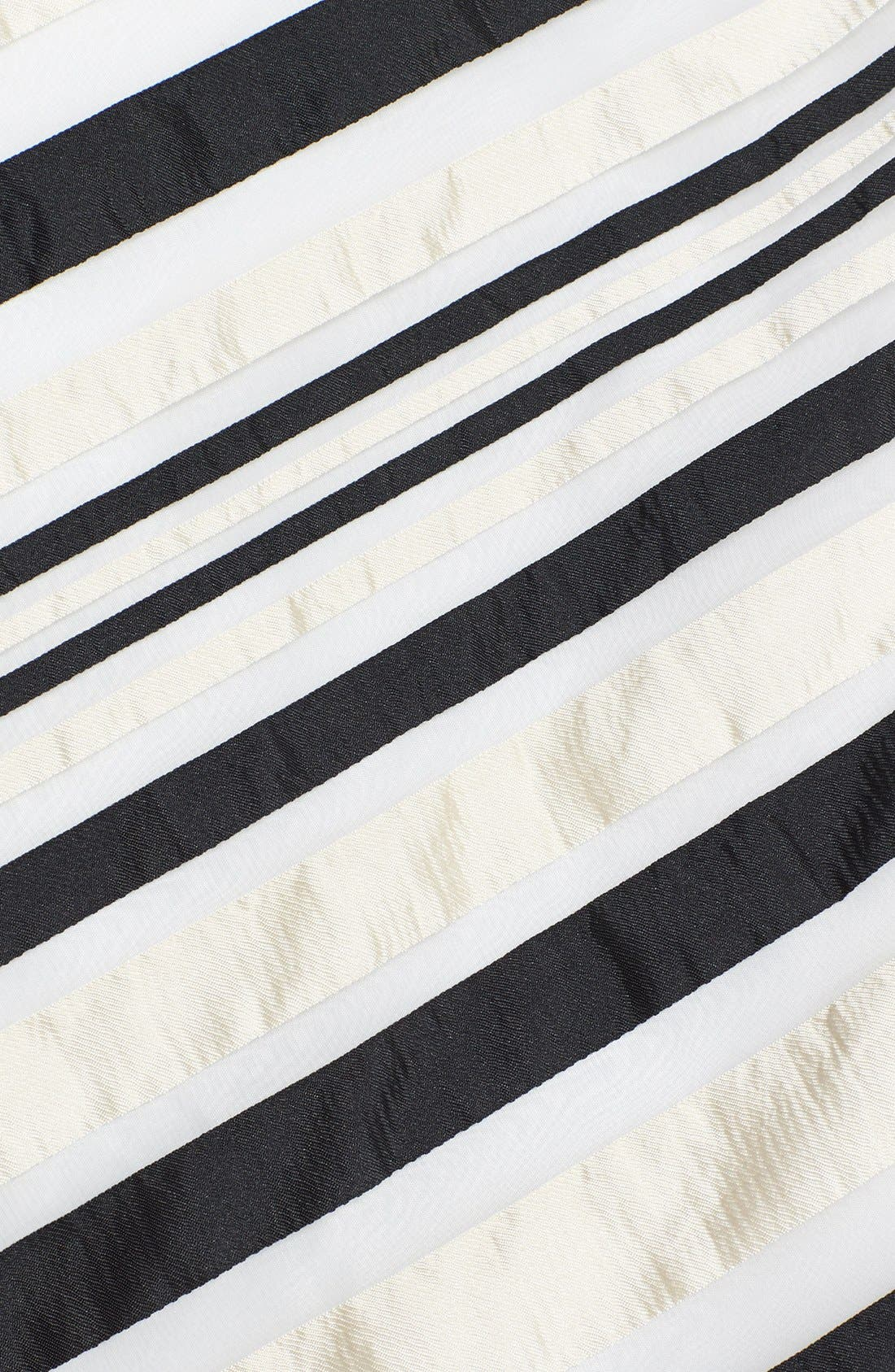 Ribbon Stripe Strapless Dress,                             Alternate thumbnail 3, color,                             001