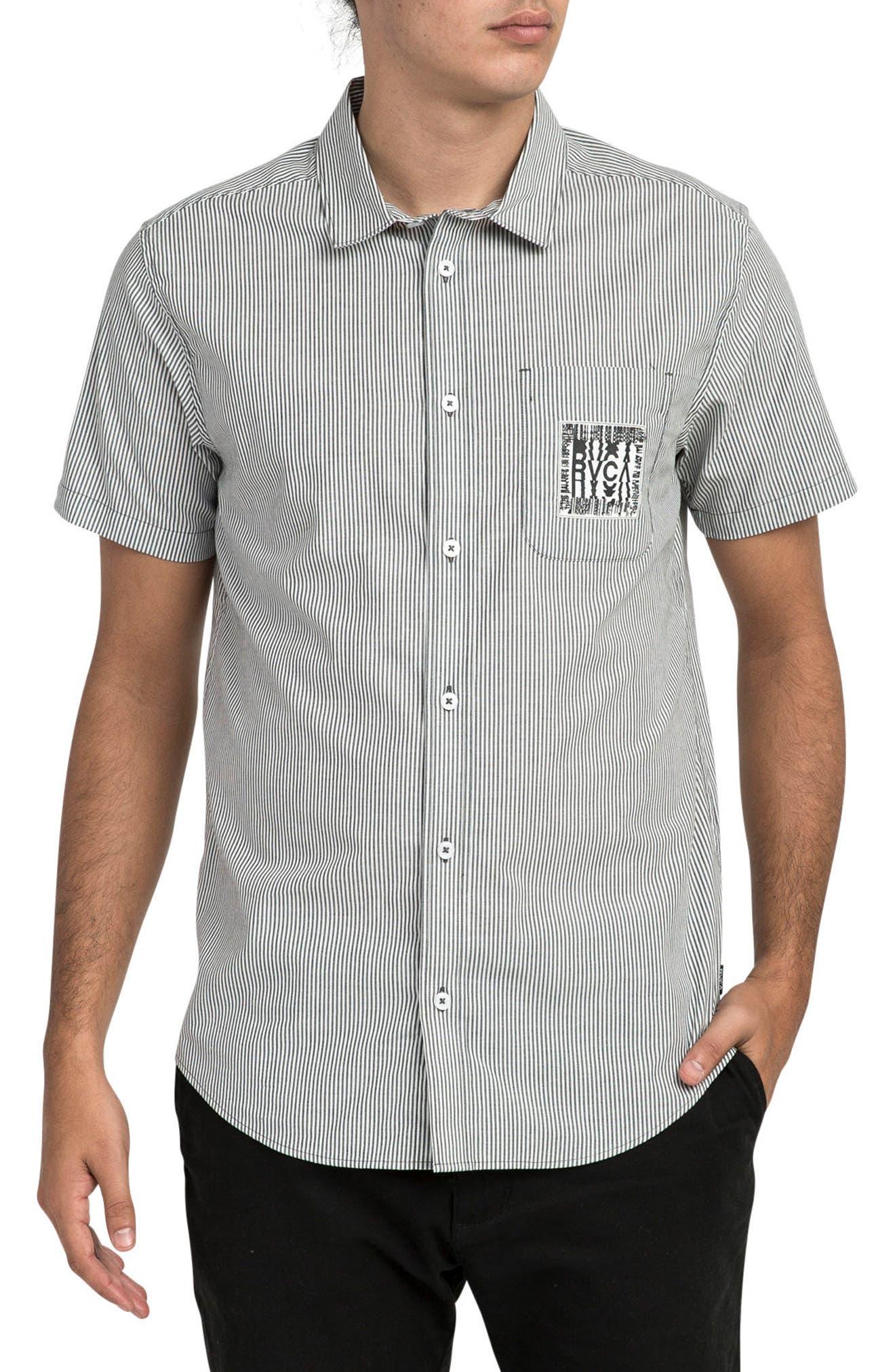 resort Disruption Woven Shirt,                             Main thumbnail 1, color,                             001