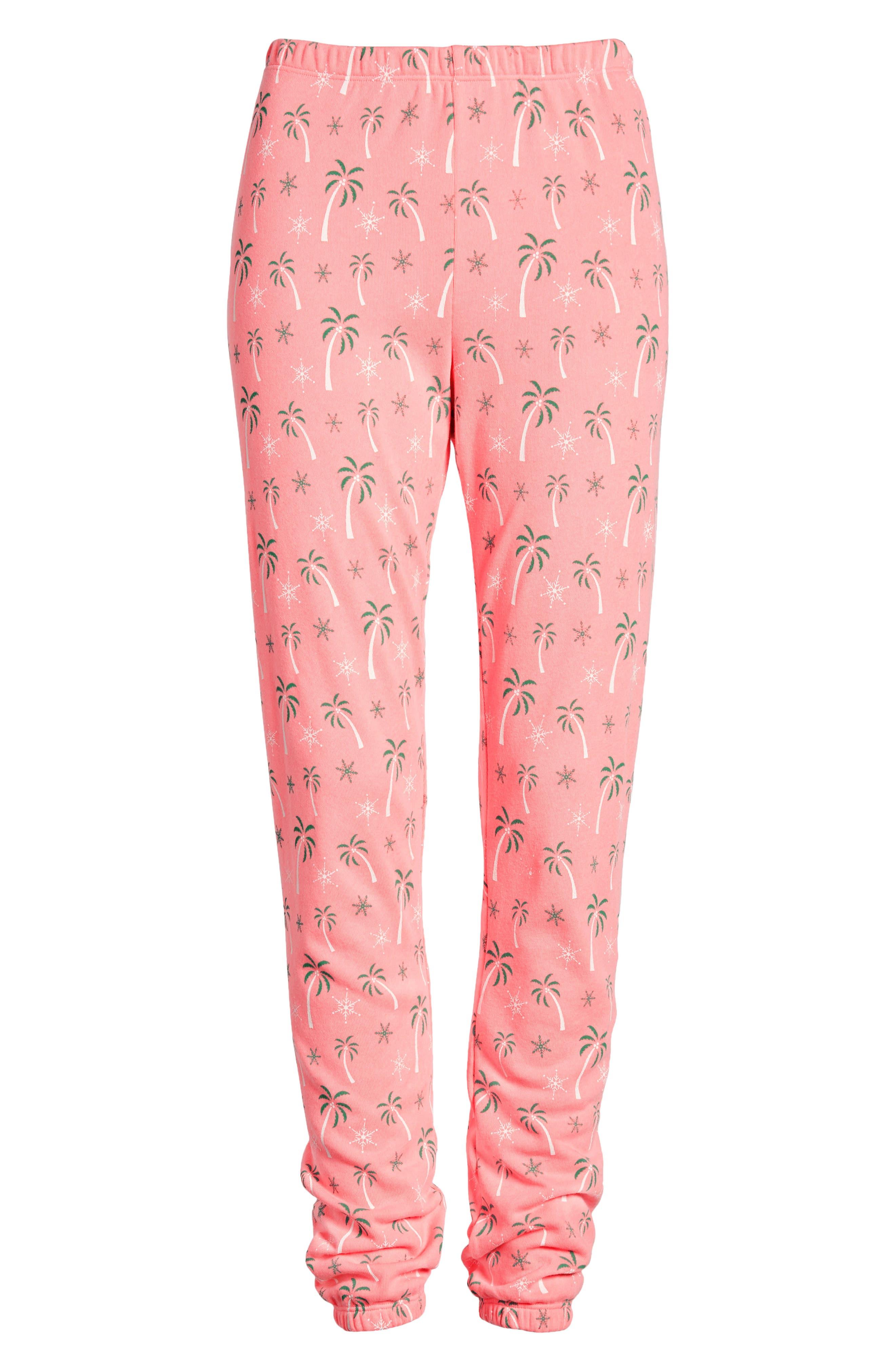 Tropical Christmas Sweatpants,                             Alternate thumbnail 6, color,                             NEON SIGN