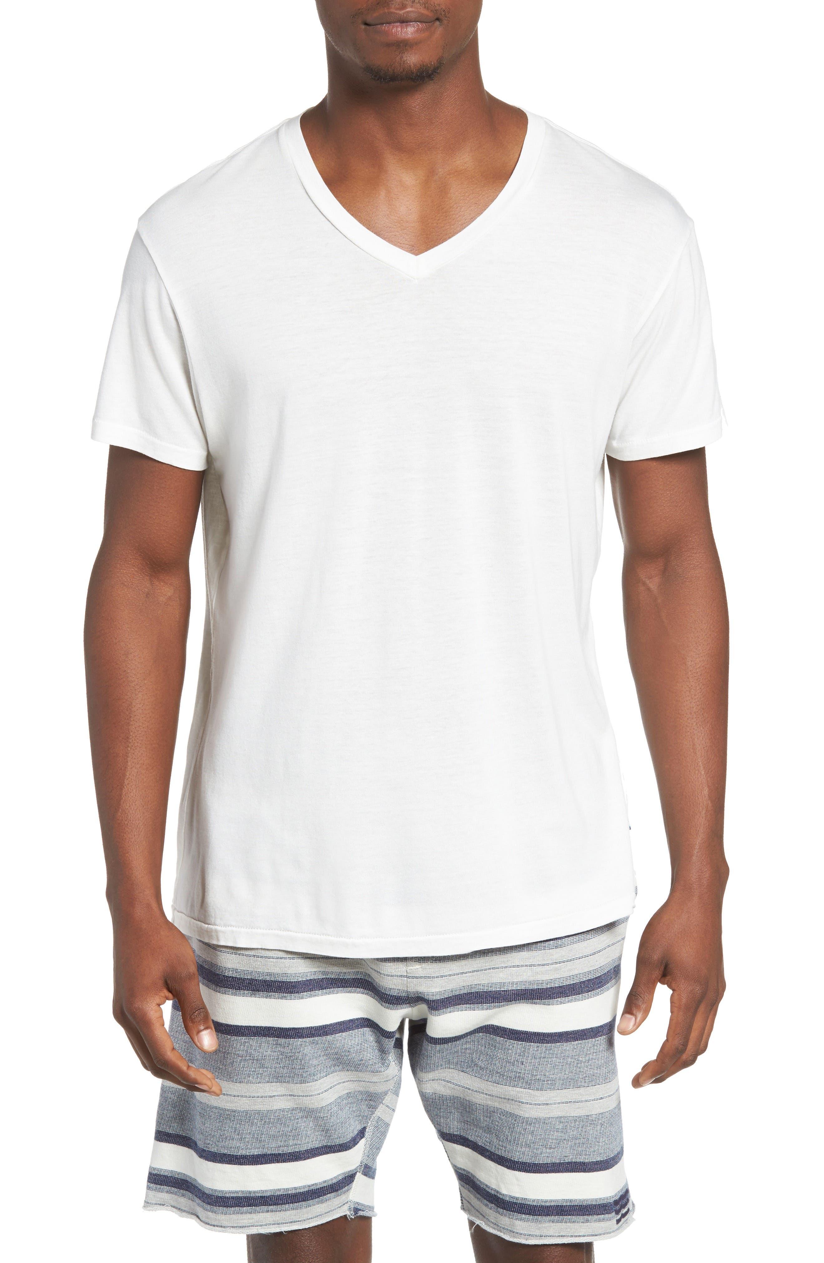 Essential V-Neck T-Shirt,                             Main thumbnail 6, color,