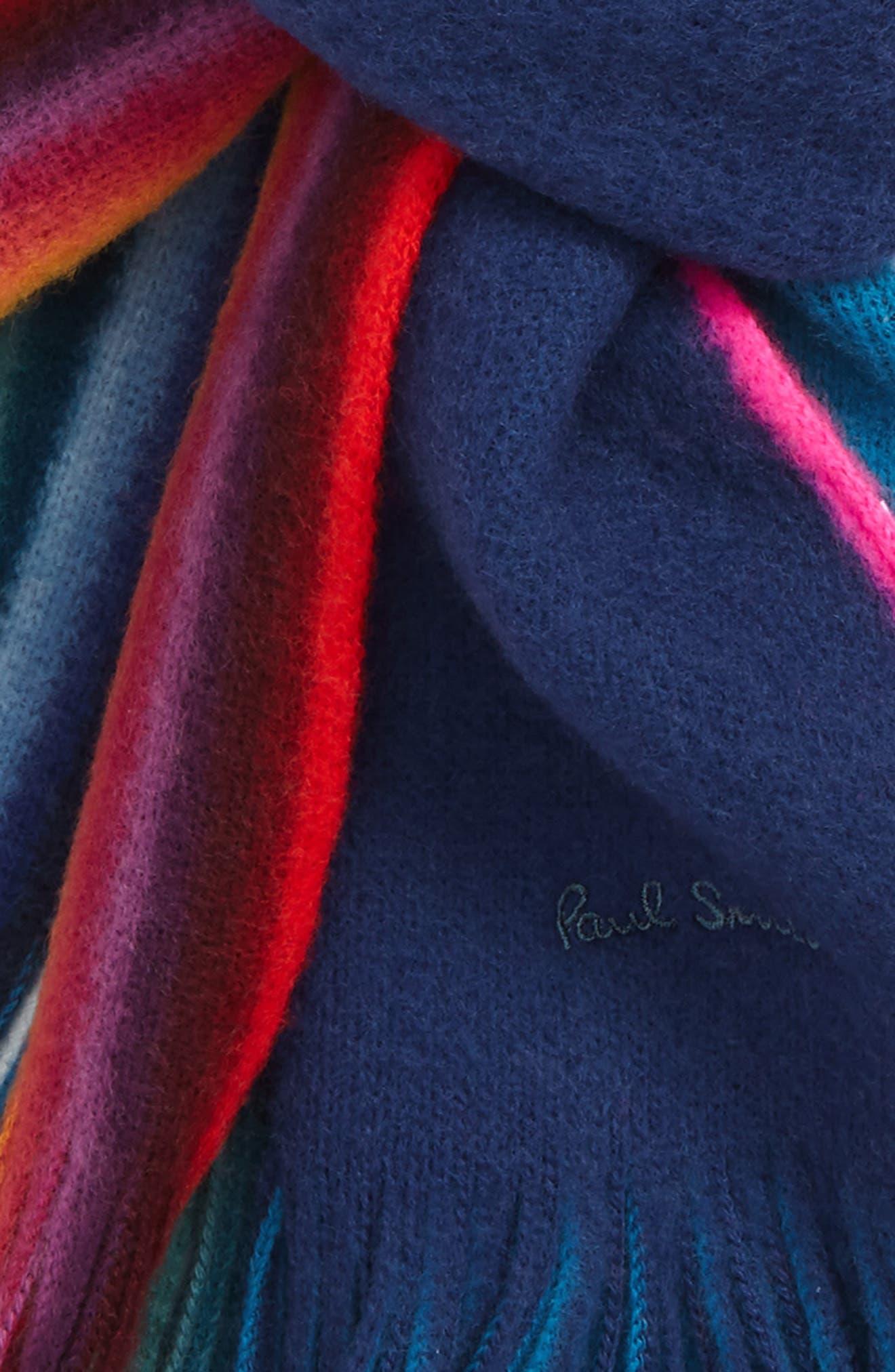 Rainbow Edge Wool Scarf,                             Alternate thumbnail 12, color,