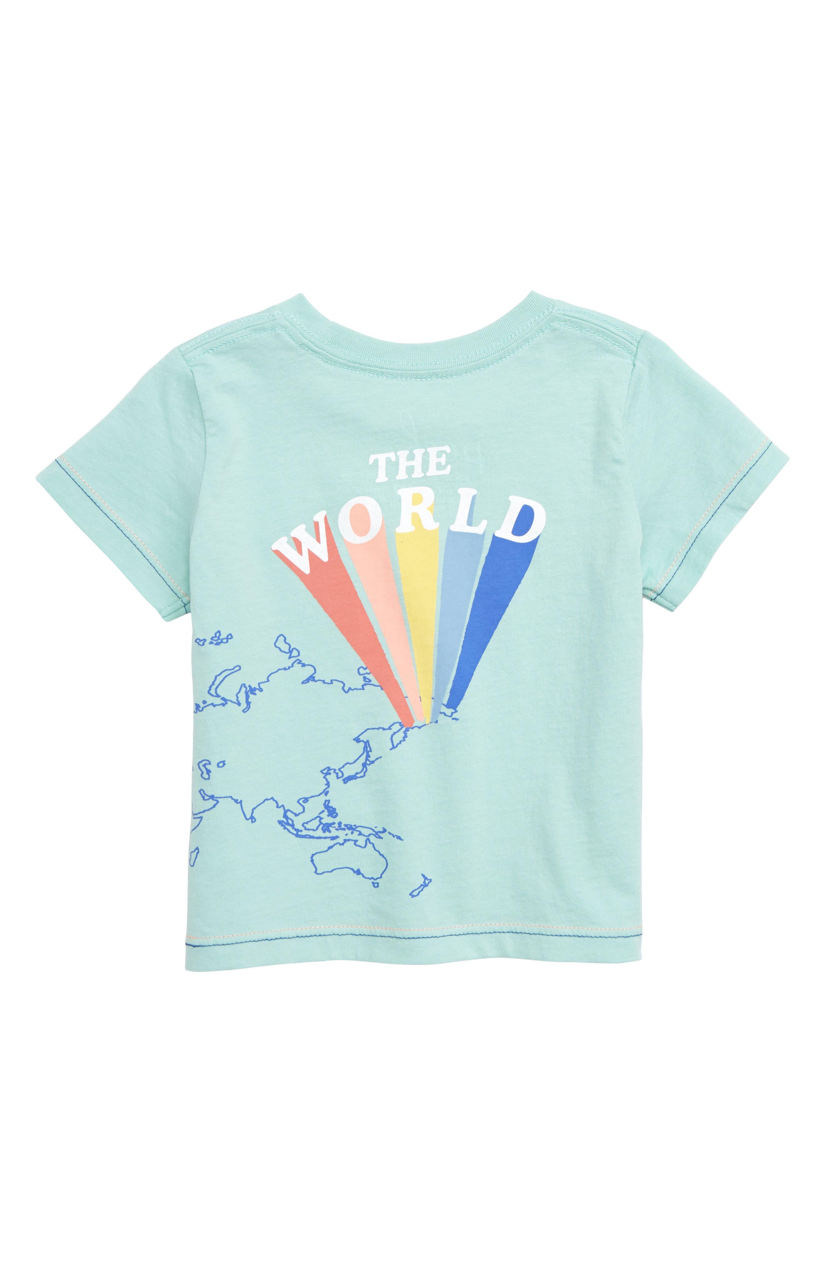 PEEK ESSENTIALS,                             Peek Change the World Graphic T-Shirt,                             Alternate thumbnail 2, color,                             BLUE