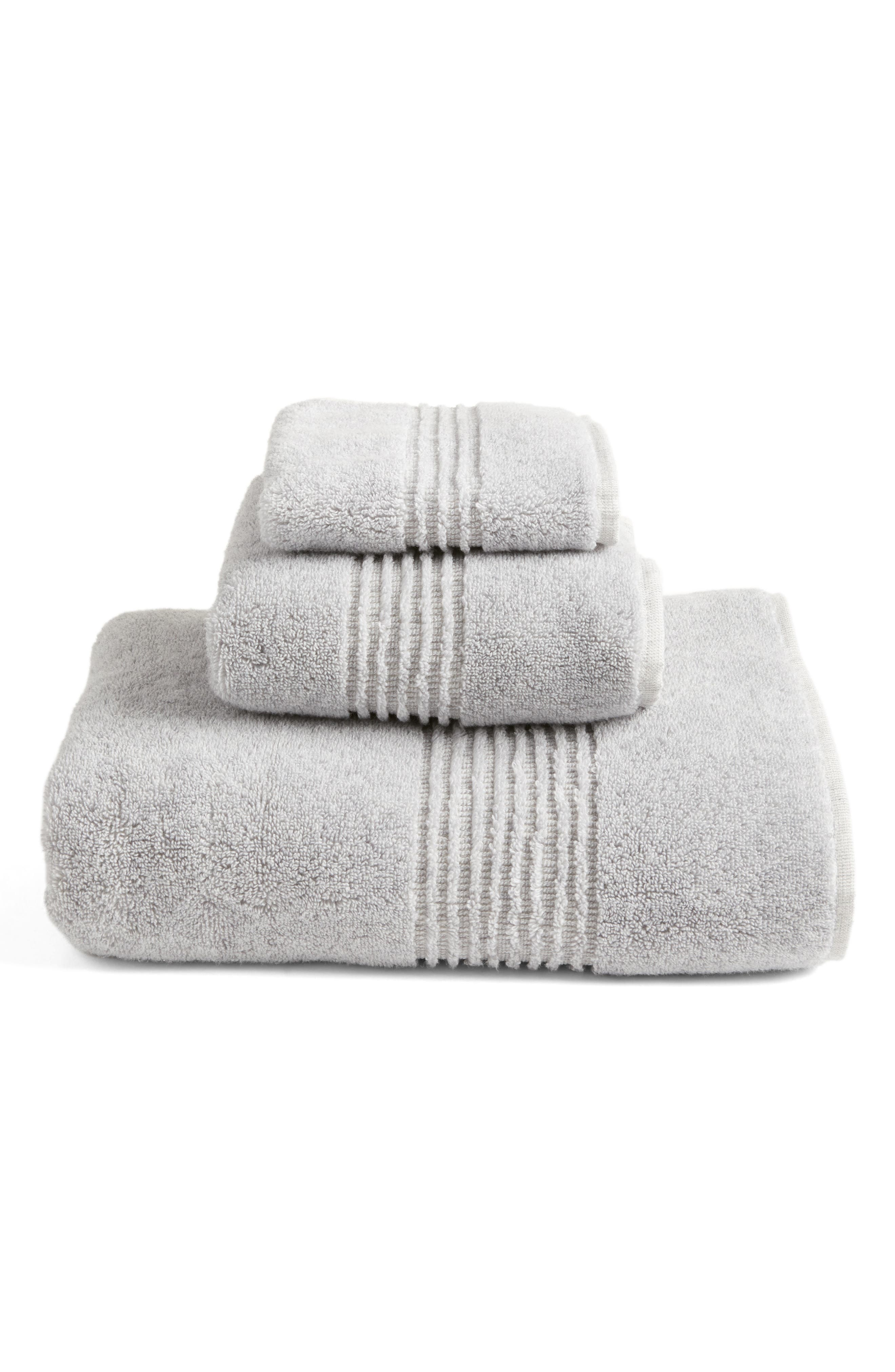 Organic Hydrocotton Hand Towel,                         Main,                         color, GREY SOFT