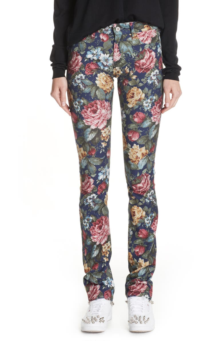 Junya Watanabe ALLOVER FLORAL STRETCH JEANS