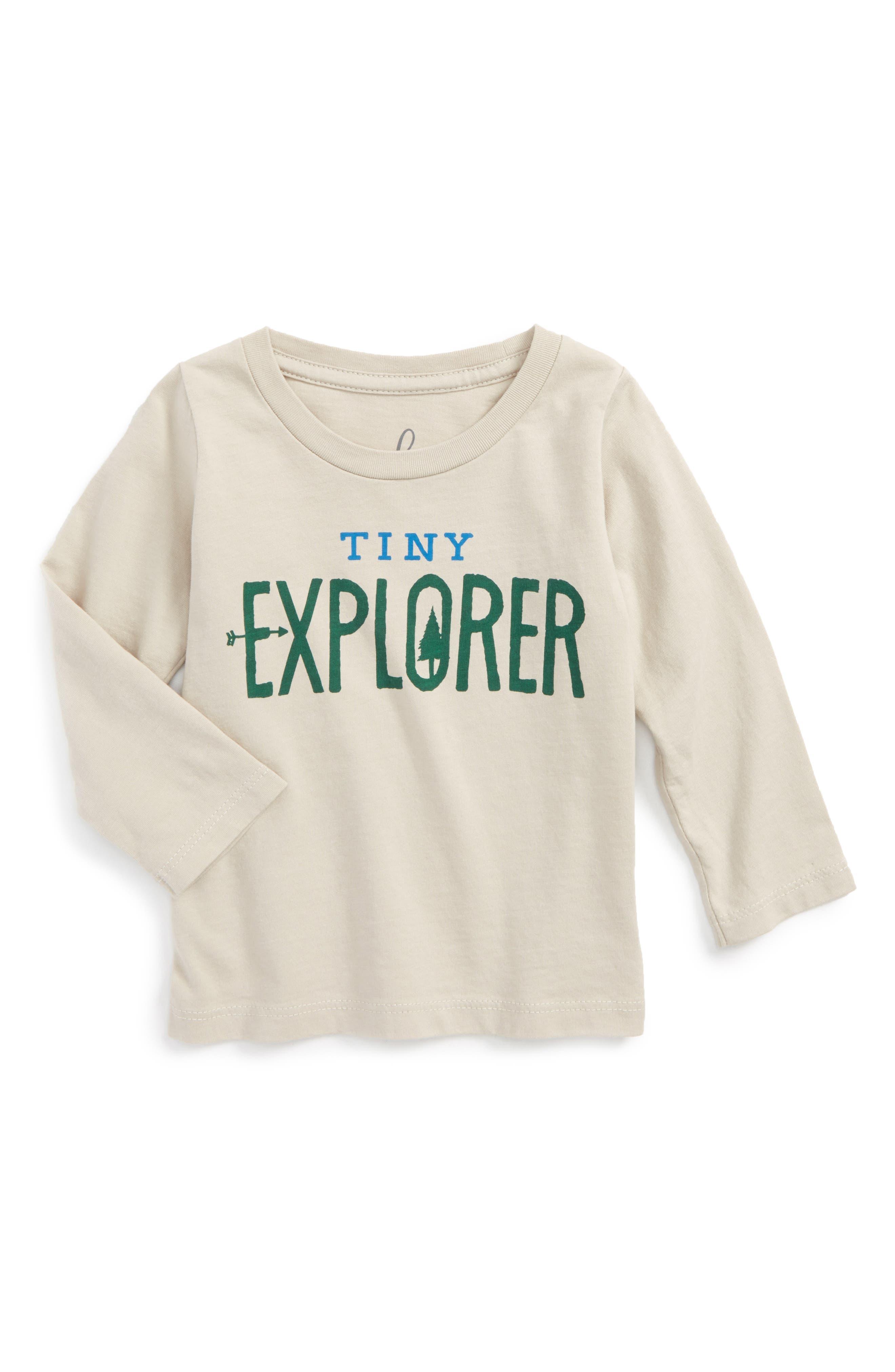 Peek Tiny Explorer T-Shirt,                             Main thumbnail 1, color,                             263