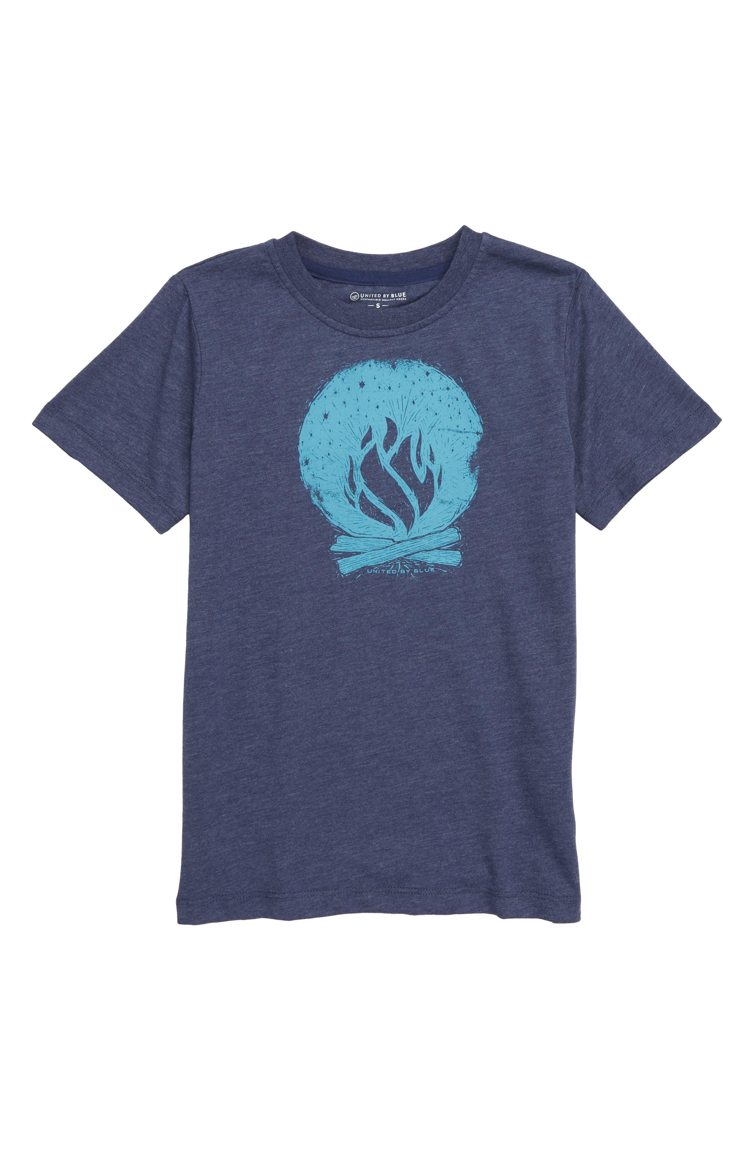 Campfire T-Shirt,                         Main,                         color, NAVY