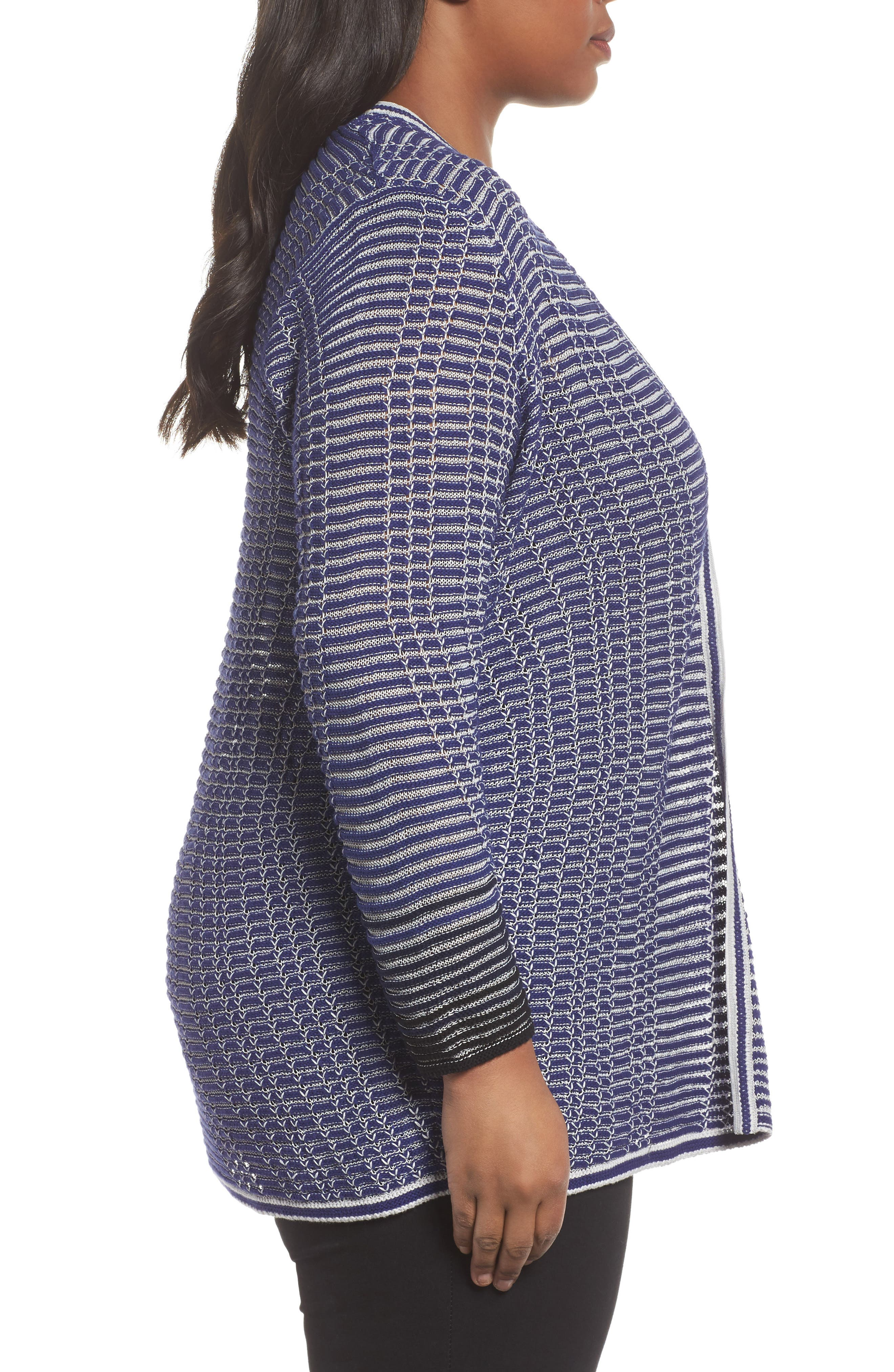Striped Space Cardigan,                             Alternate thumbnail 6, color,