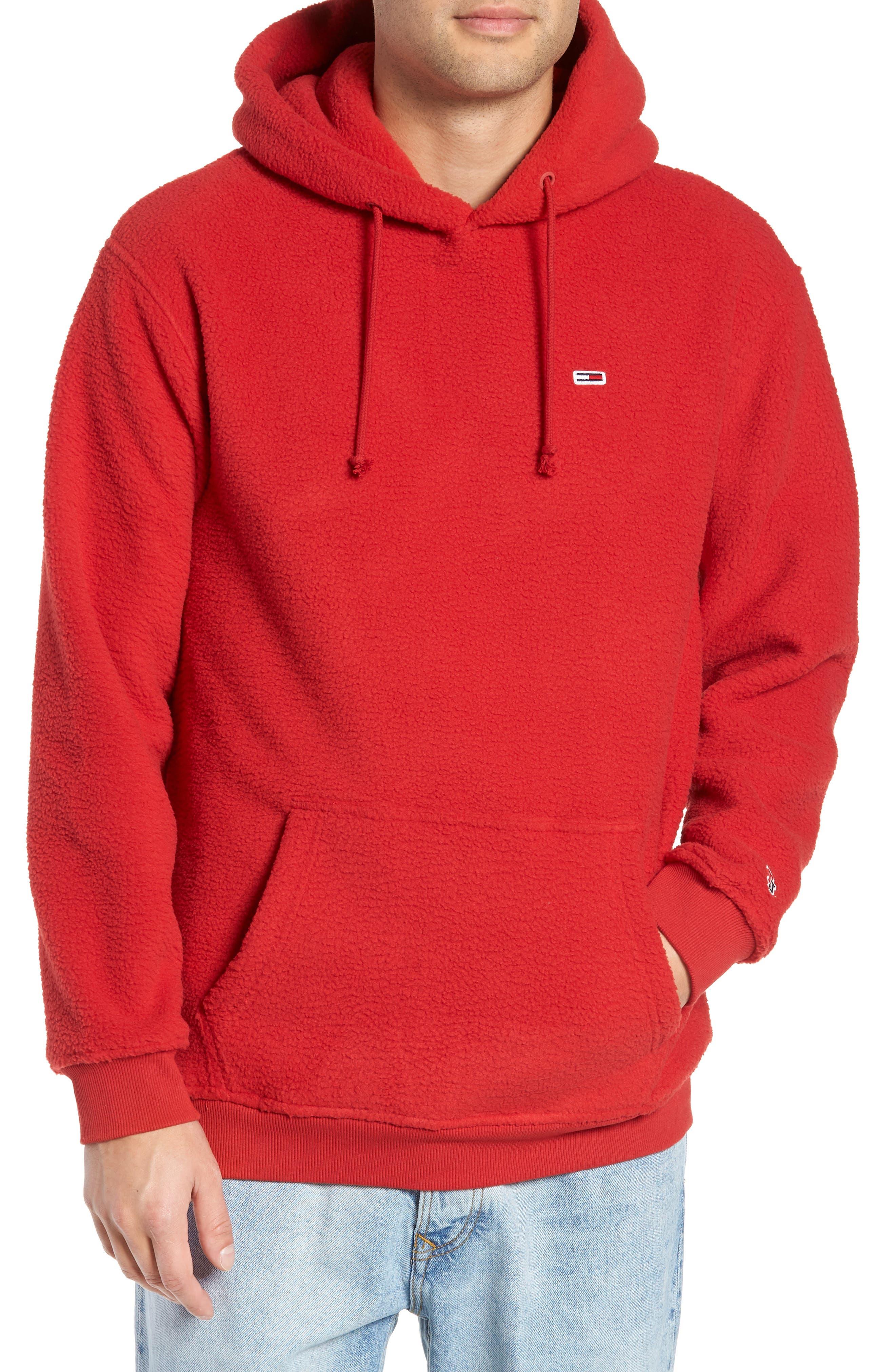 TOMMY JEANS Classics Fleece Hooded Sweatshirt in Samba