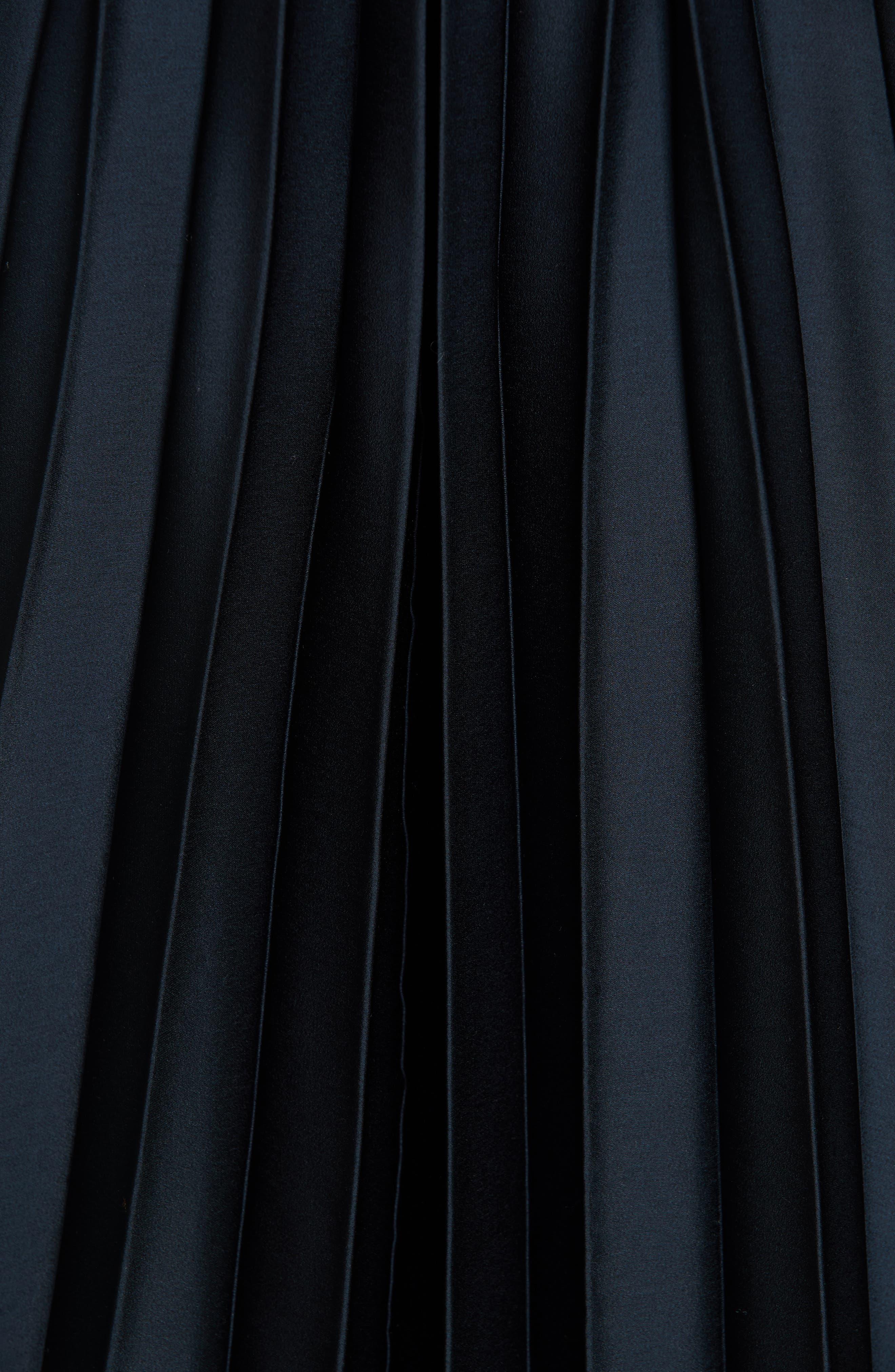 Chevron Pleat Midi Dress,                             Alternate thumbnail 5, color,                             COASTAL
