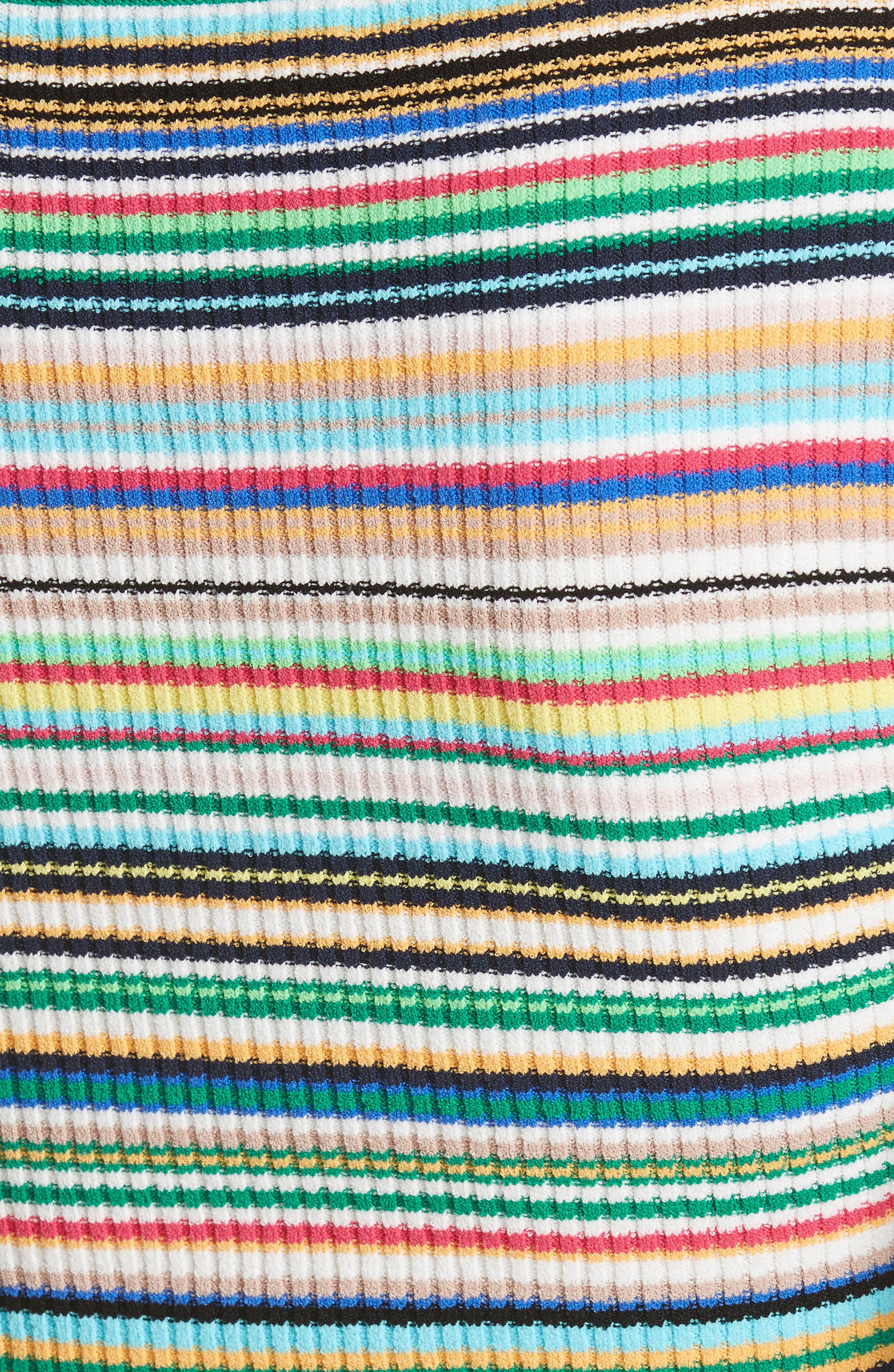 Microstripe Flare Sleeve Pullover,                             Alternate thumbnail 5, color,                             167