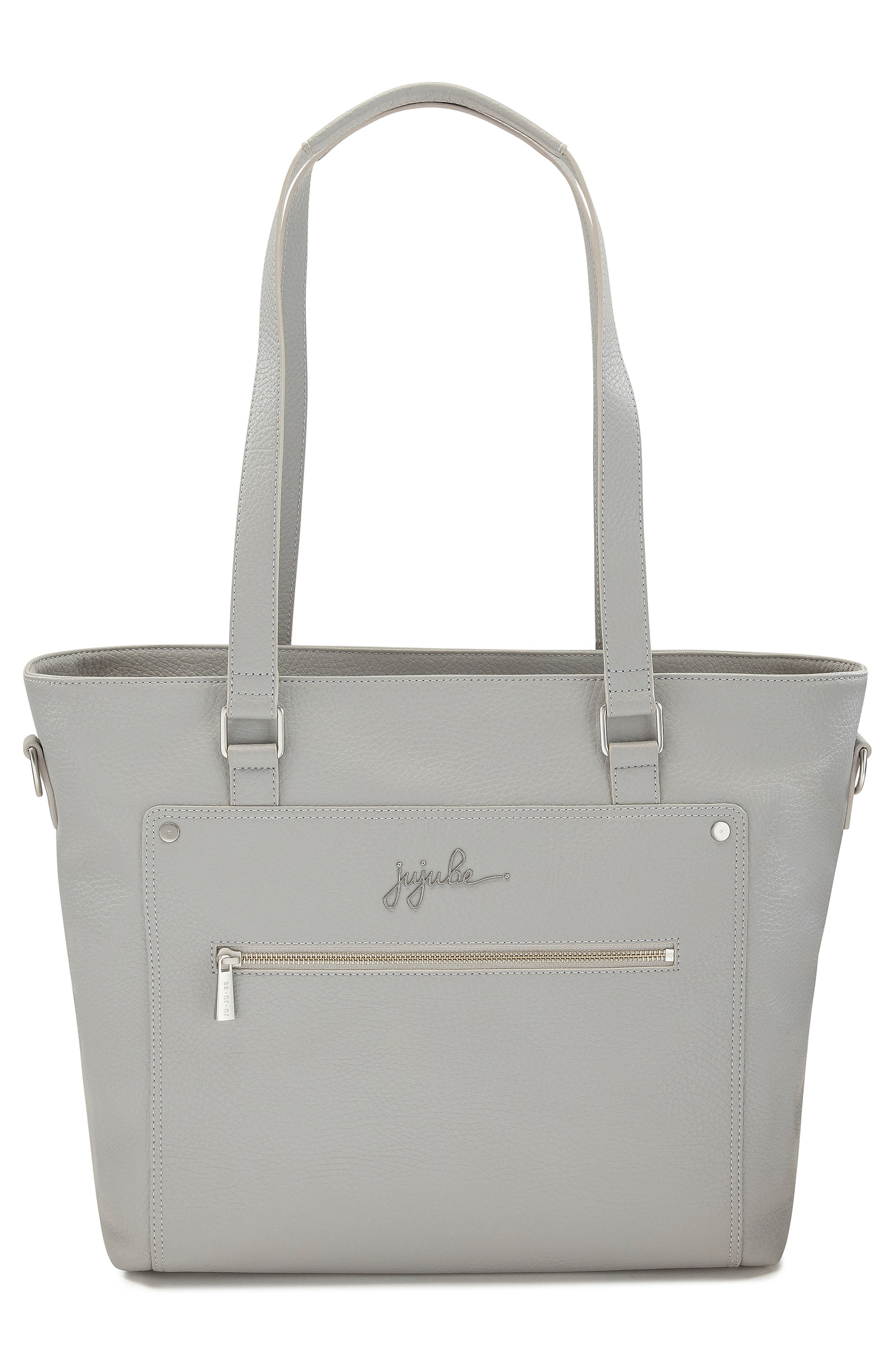 Ever Collection Everyday Faux Leather Diaper Tote,                             Alternate thumbnail 7, color,                             STONE