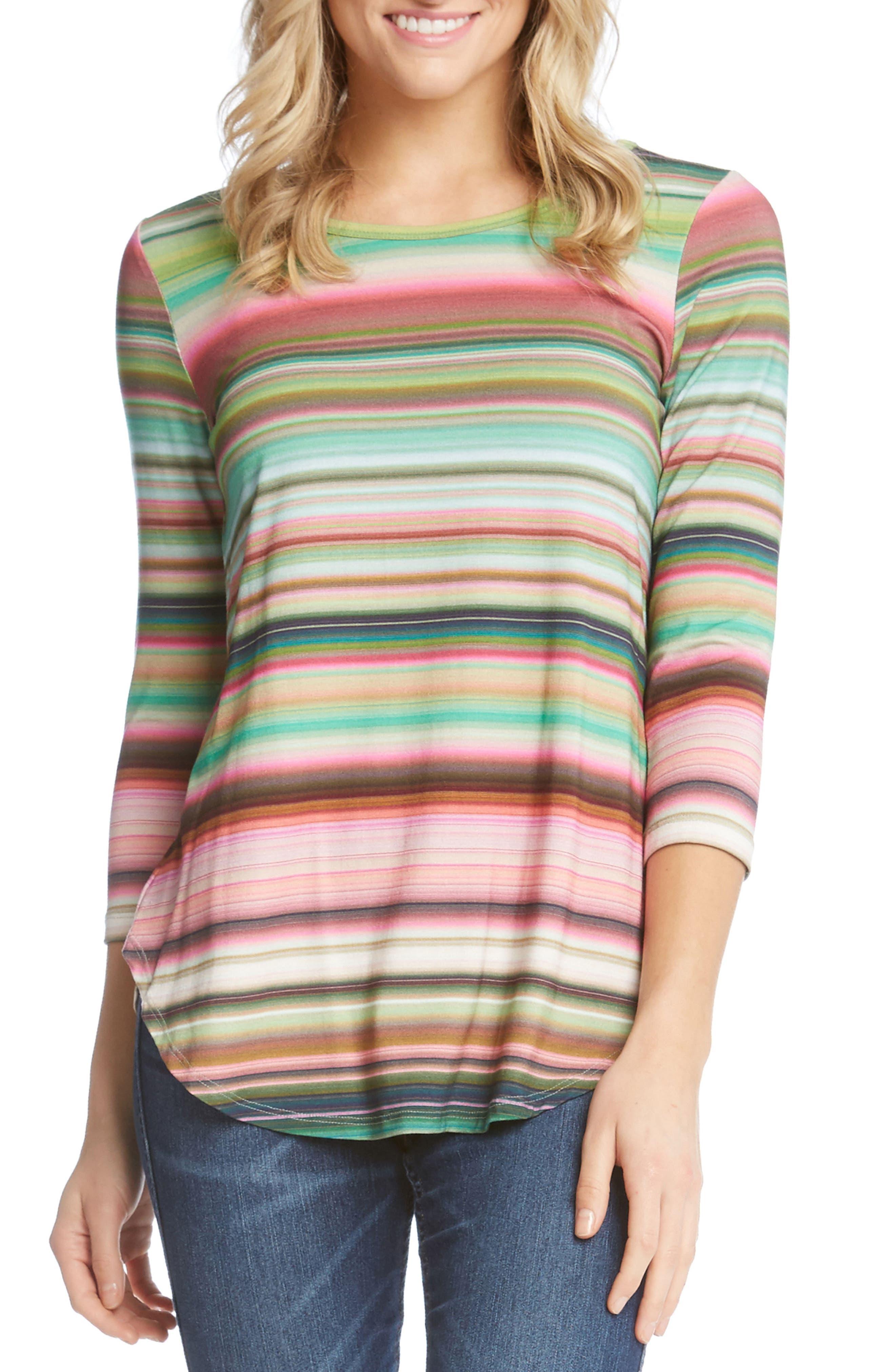 KAREN KANE Mixed Stripe Top, Main, color, 689