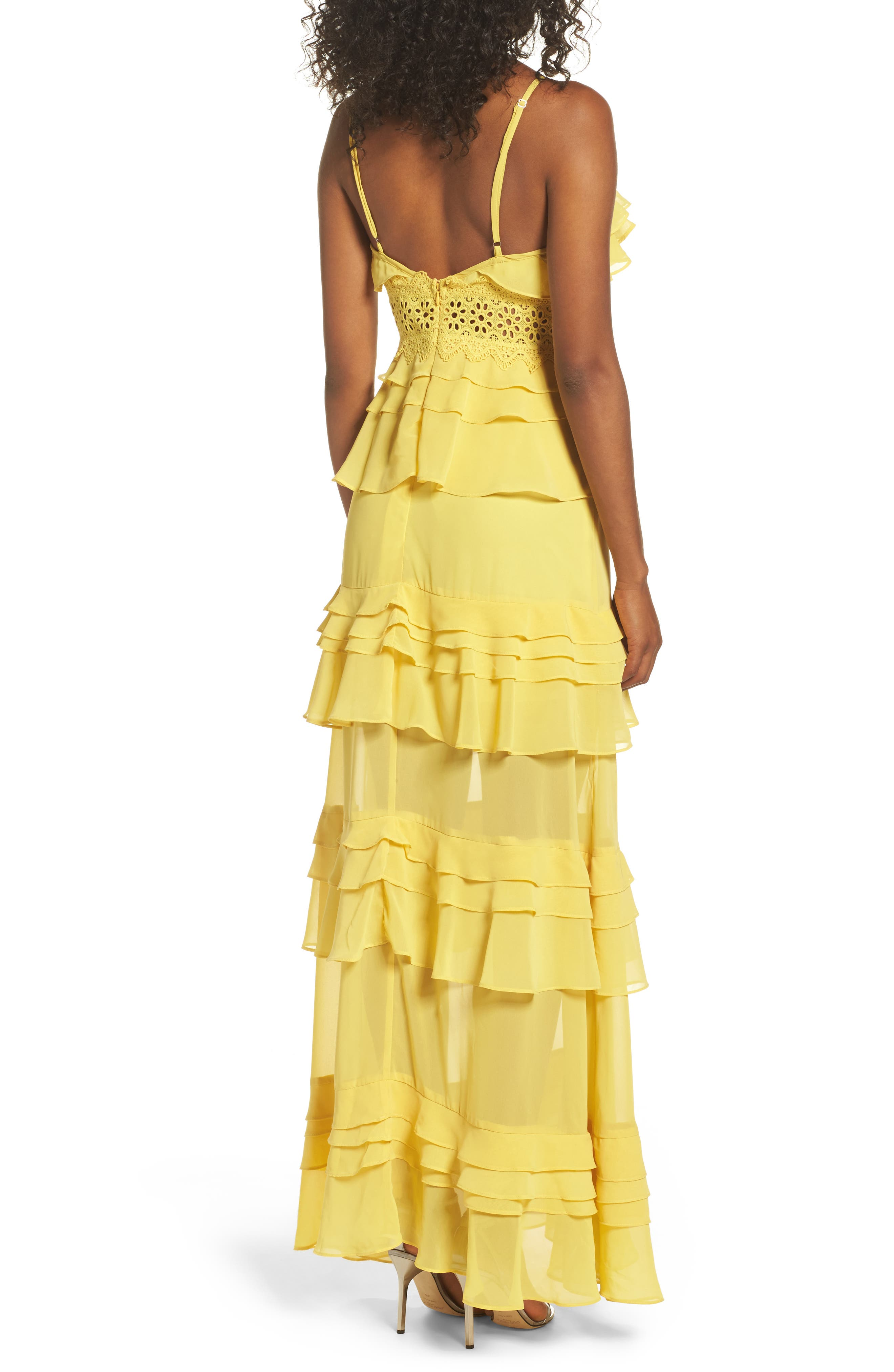 Ruffle Maxi Dress,                             Alternate thumbnail 2, color,                             700