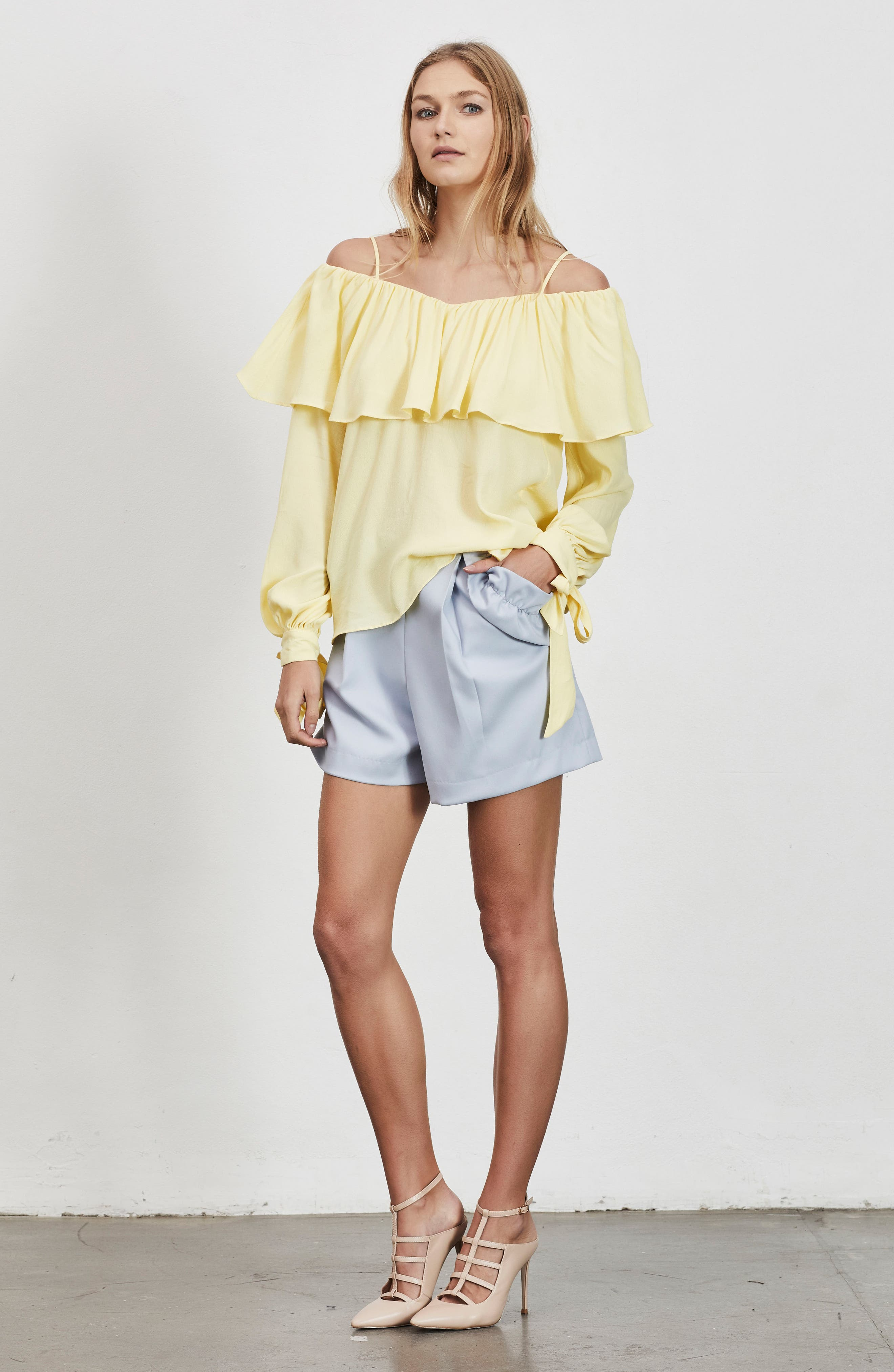 Chorus Off the Shoulder Tie Sleeve Top,                             Alternate thumbnail 8, color,                             700