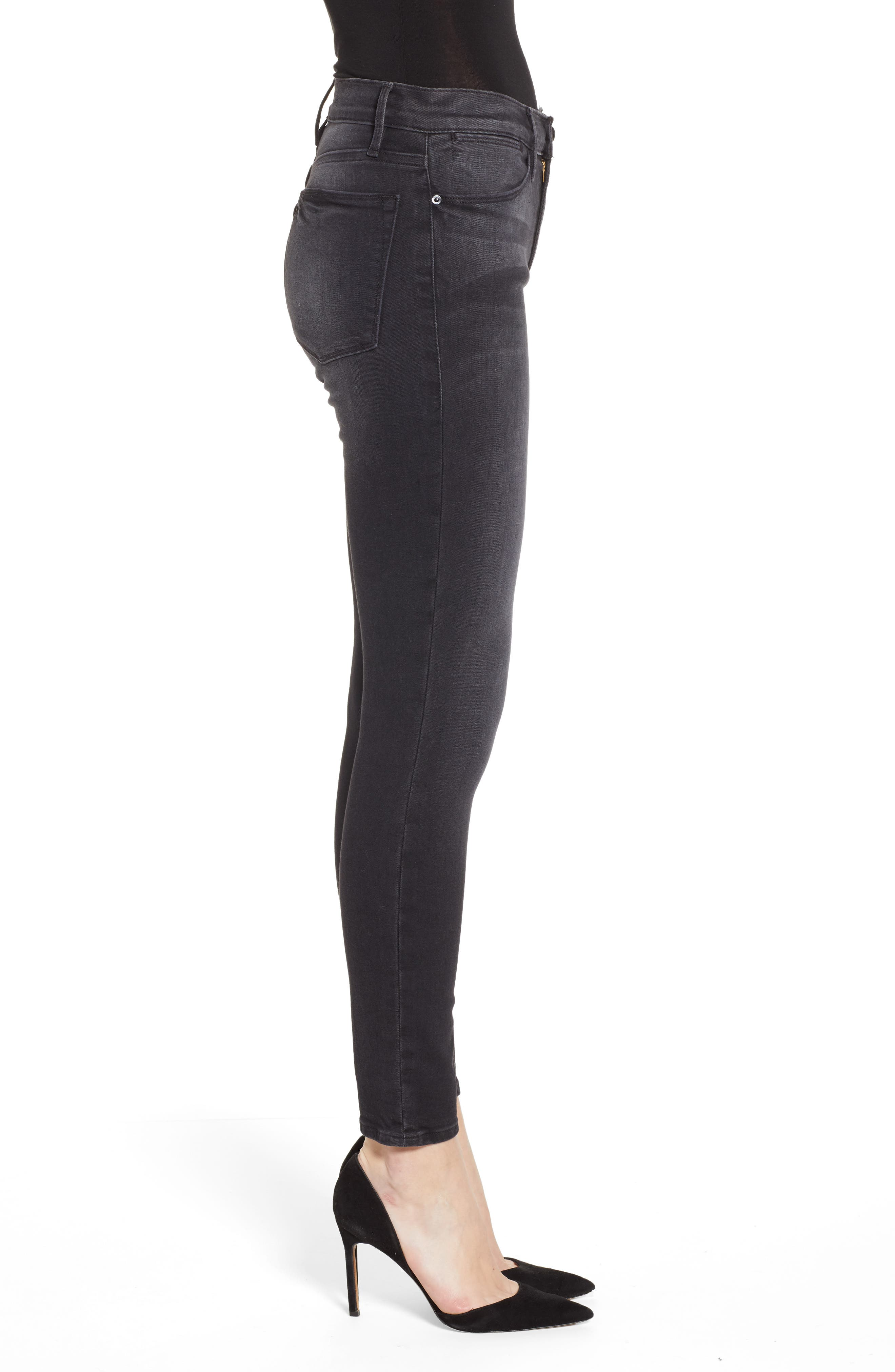 Le High Skinny Jeans,                             Alternate thumbnail 3, color,                             NIGHTFALL