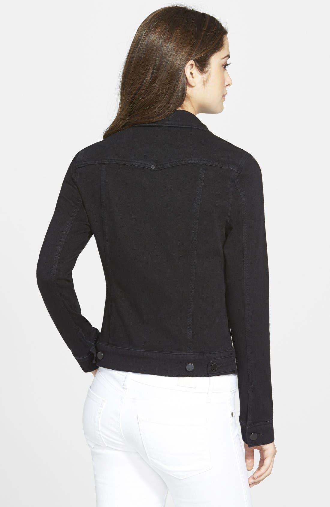 Jeans Co. Knit Denim Jacket,                             Alternate thumbnail 8, color,                             001