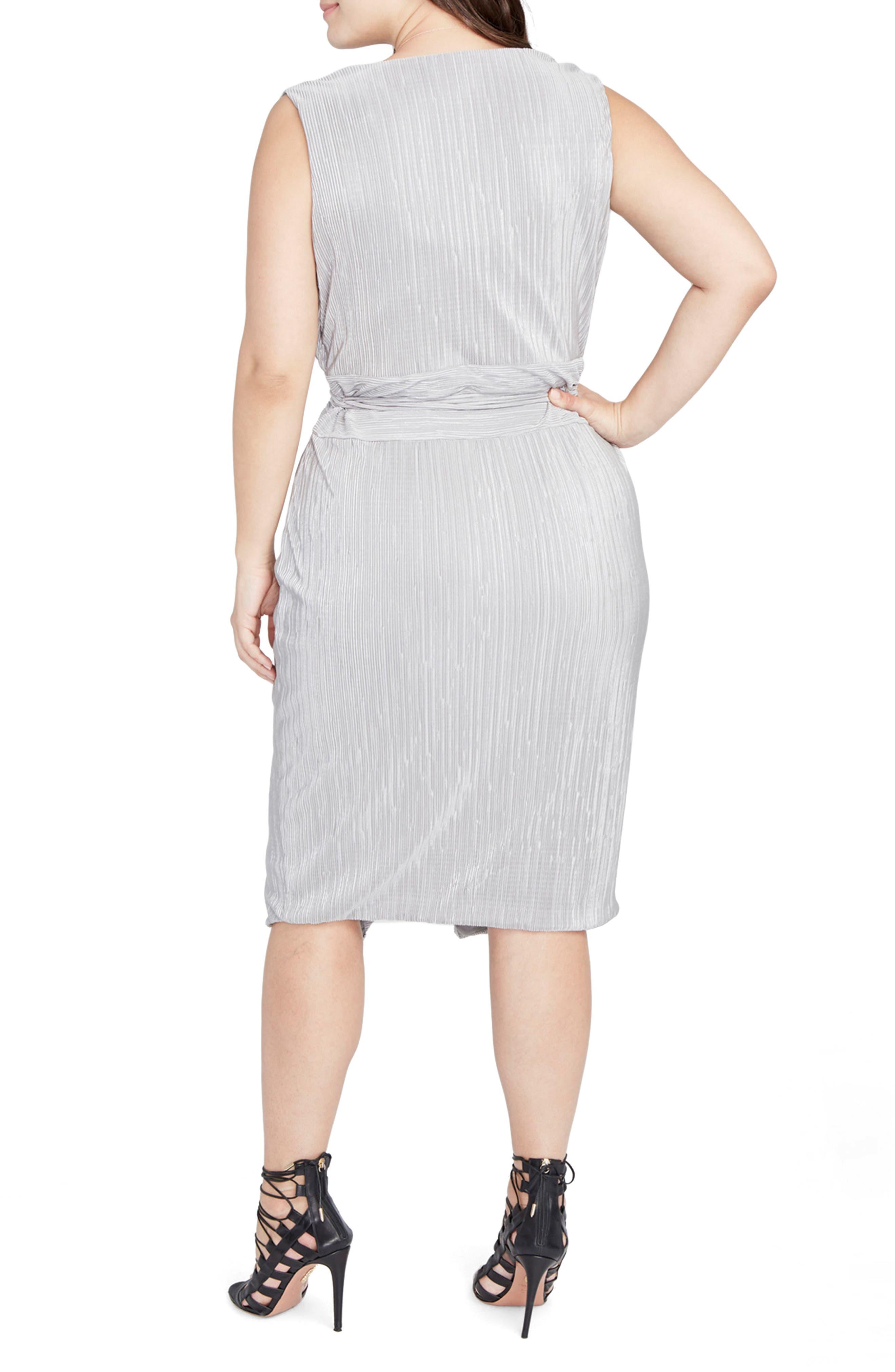 Foiled Faux Wrap Dress,                             Alternate thumbnail 3, color,