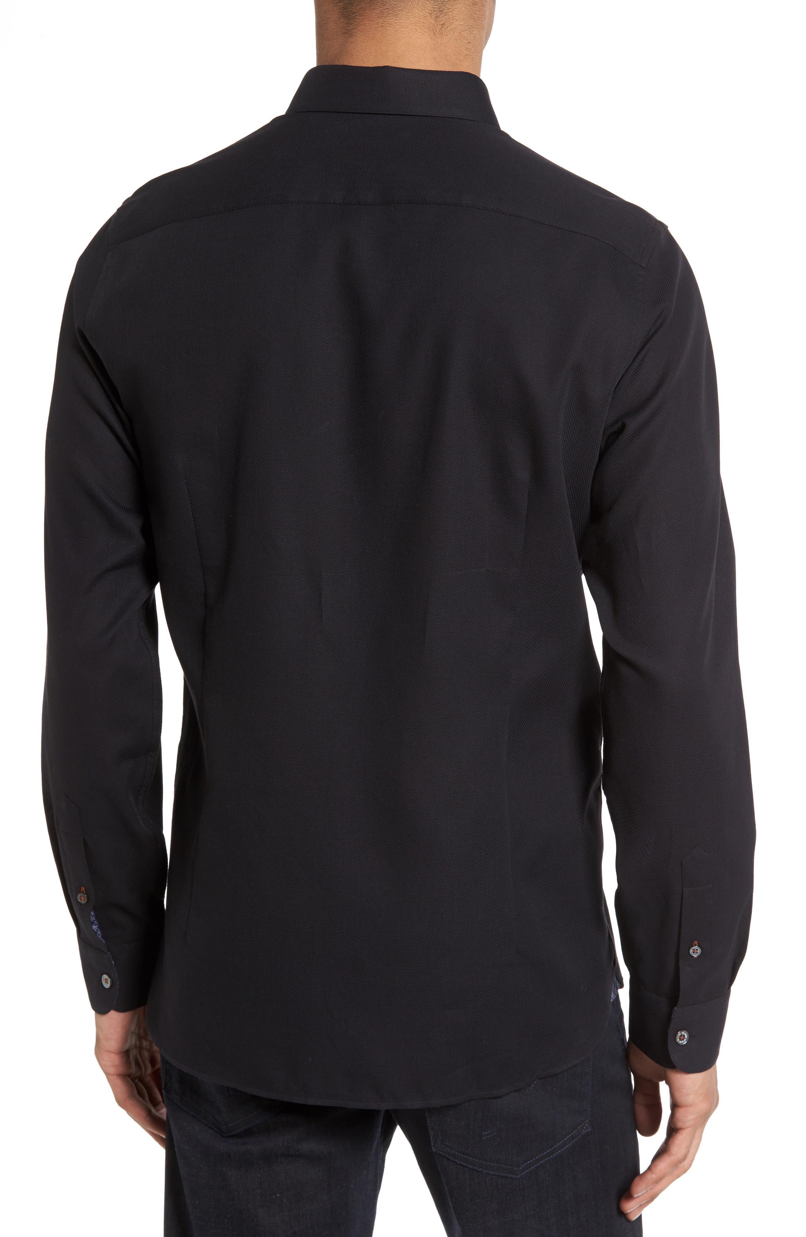 Nordlux Modern Slim Fit Stretch Cotton Sport Shirt,                             Alternate thumbnail 2, color,                             001