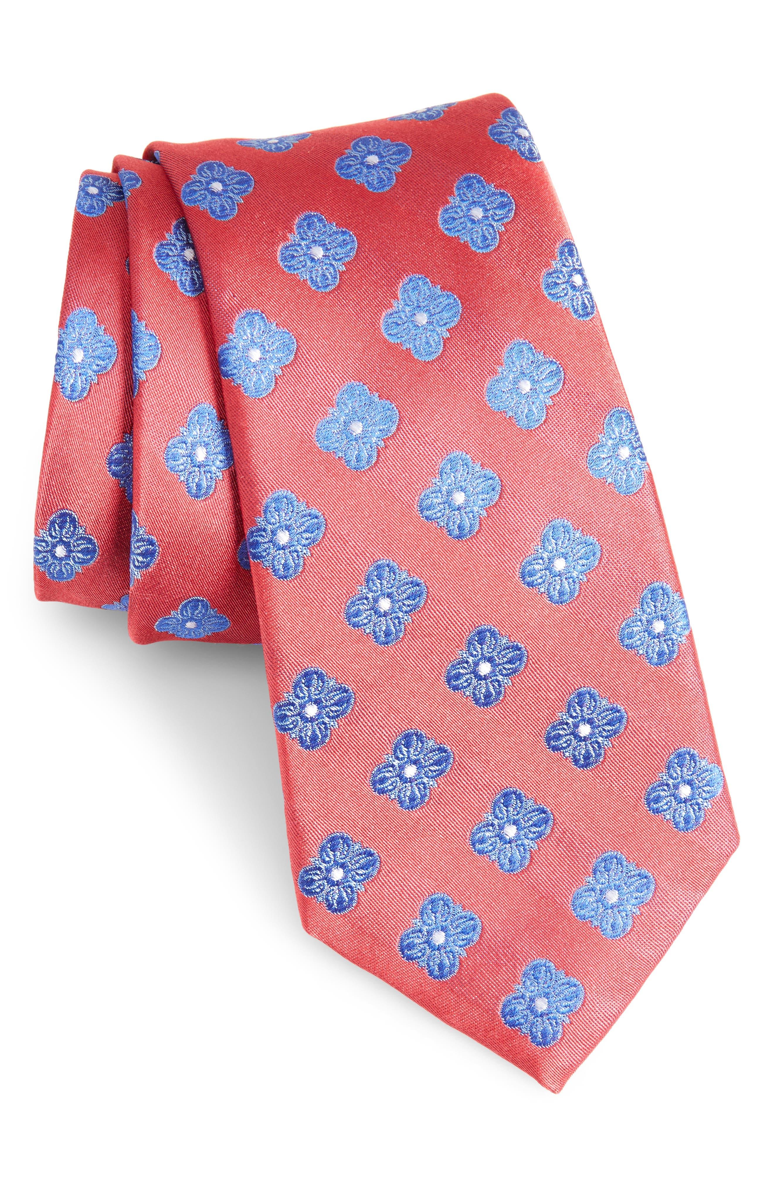 Cameron Floral Medallion Silk Tie,                             Main thumbnail 7, color,