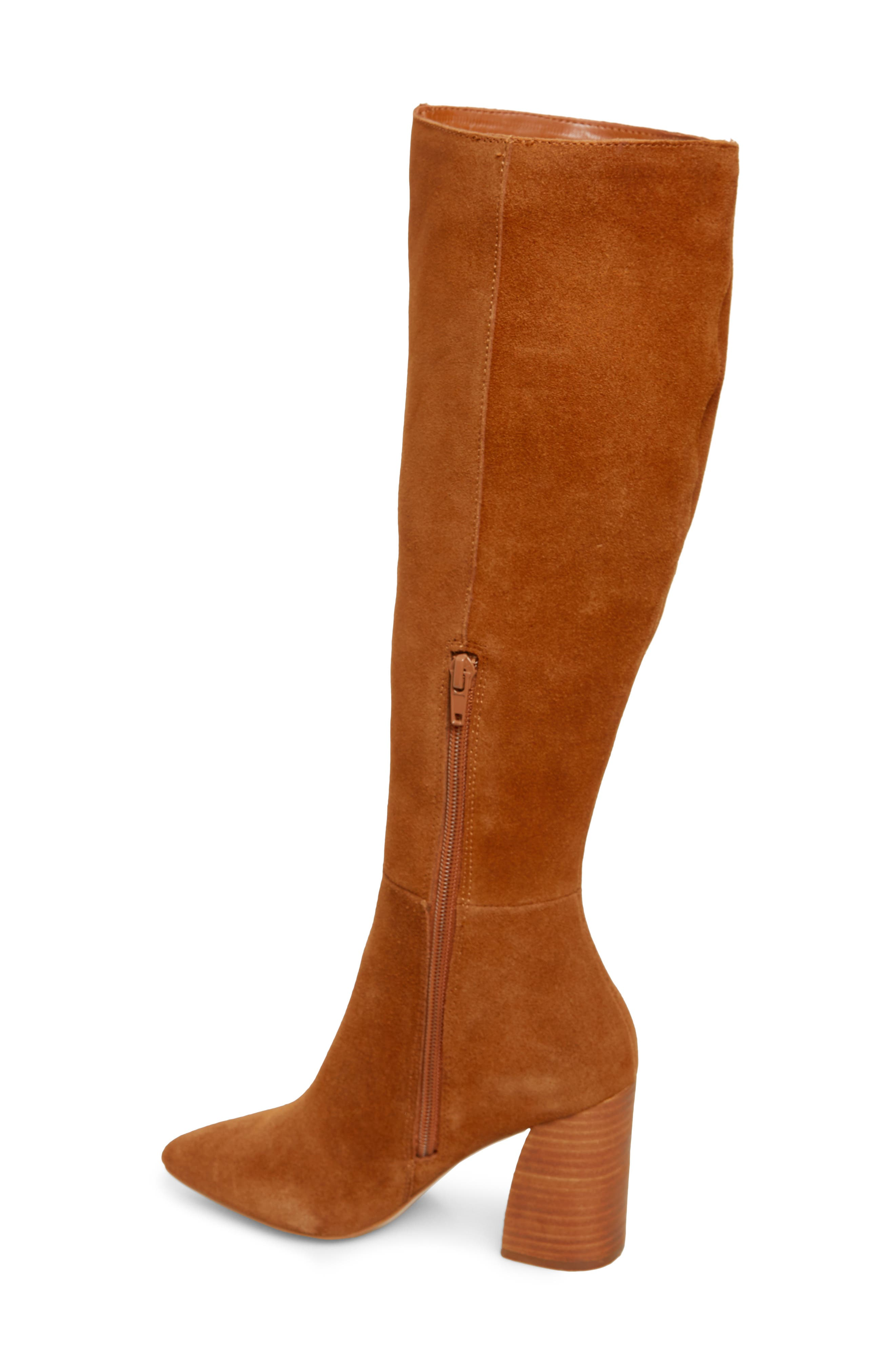 Serve Knee High Boot,                             Alternate thumbnail 2, color,                             CHESTNUT SUEDE