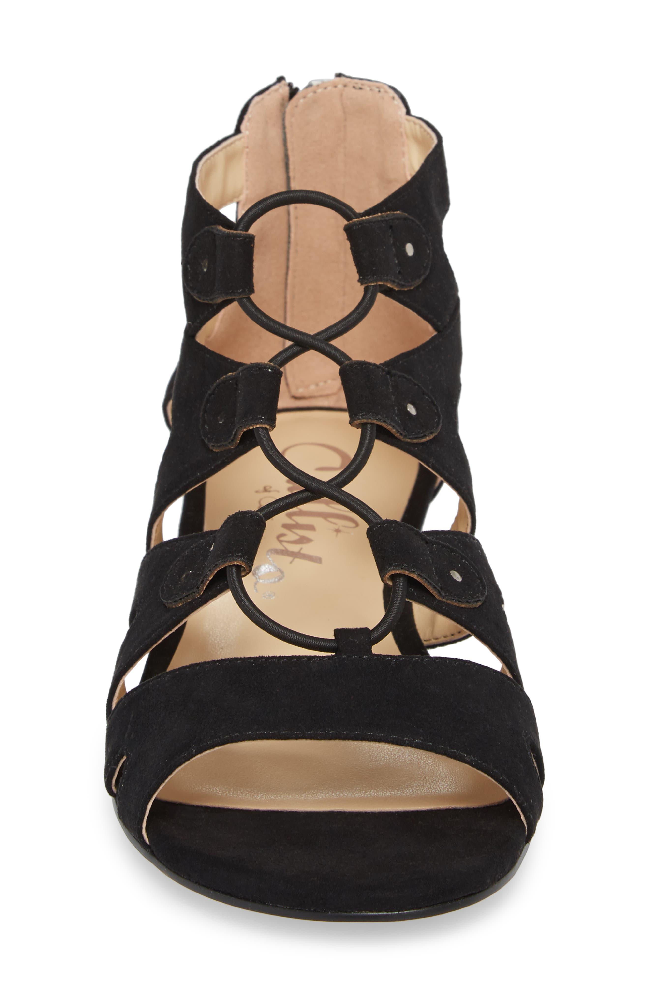 Lexx Lace-Up Sandal,                             Alternate thumbnail 4, color,                             003