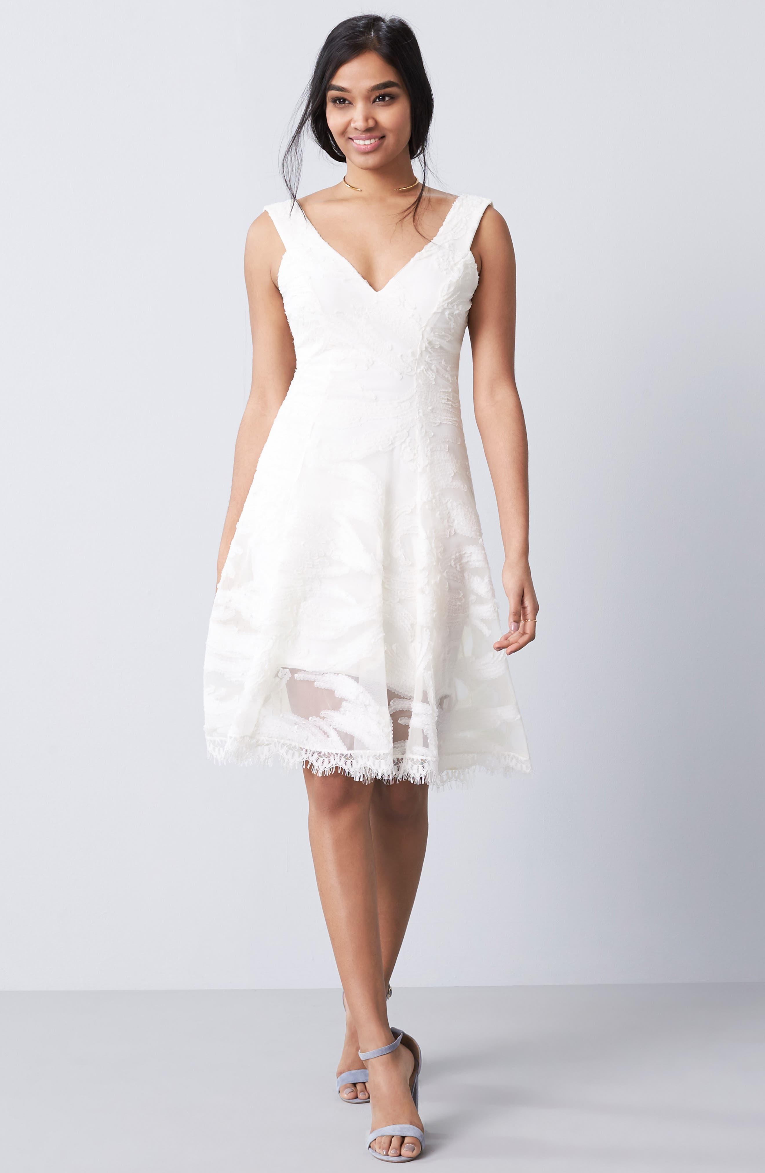 Maya Woven Fit & Flare Dress,                             Main thumbnail 3, color,