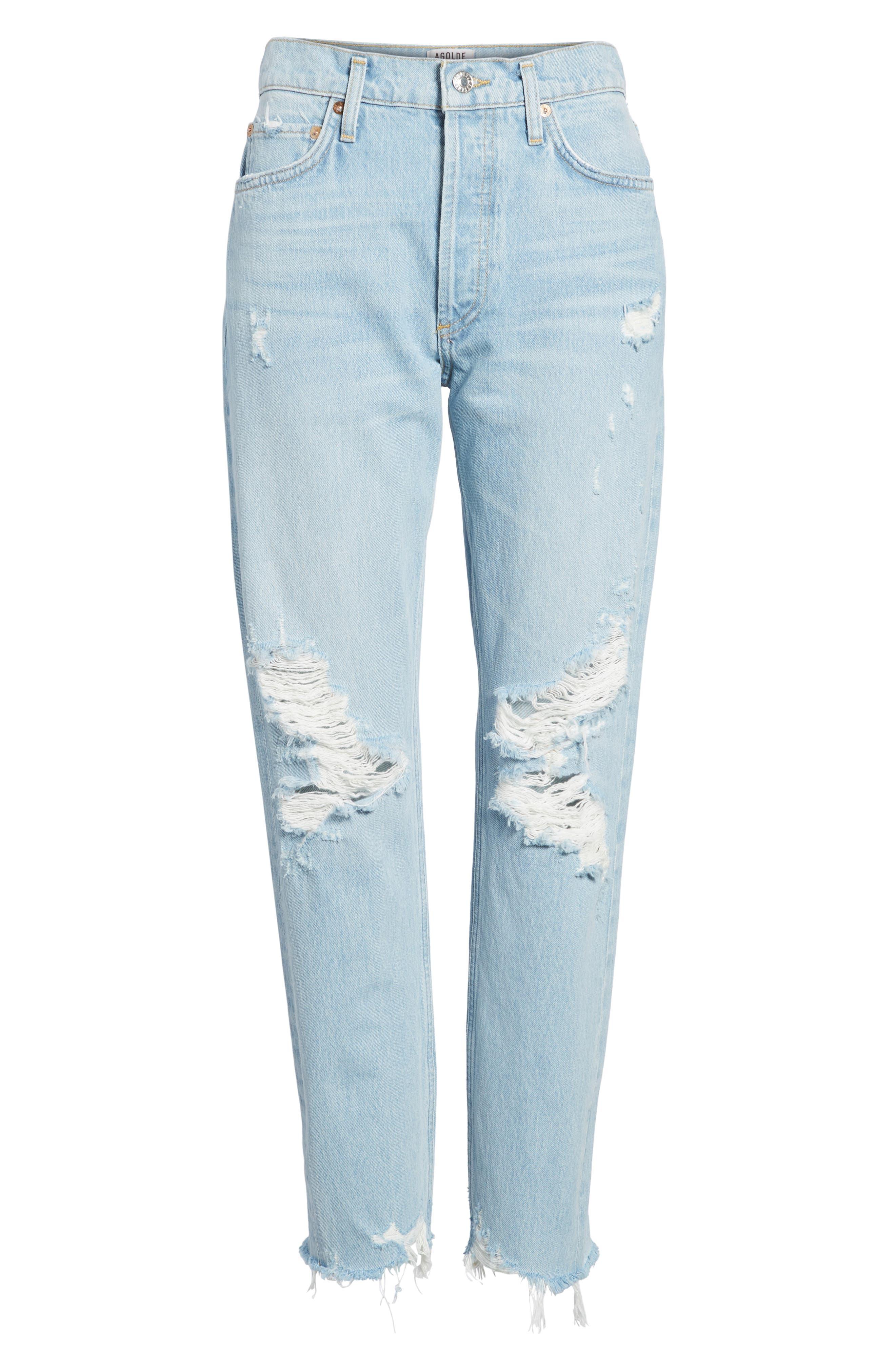 Jamie High Waist Ankle Jeans,                             Alternate thumbnail 7, color,                             453