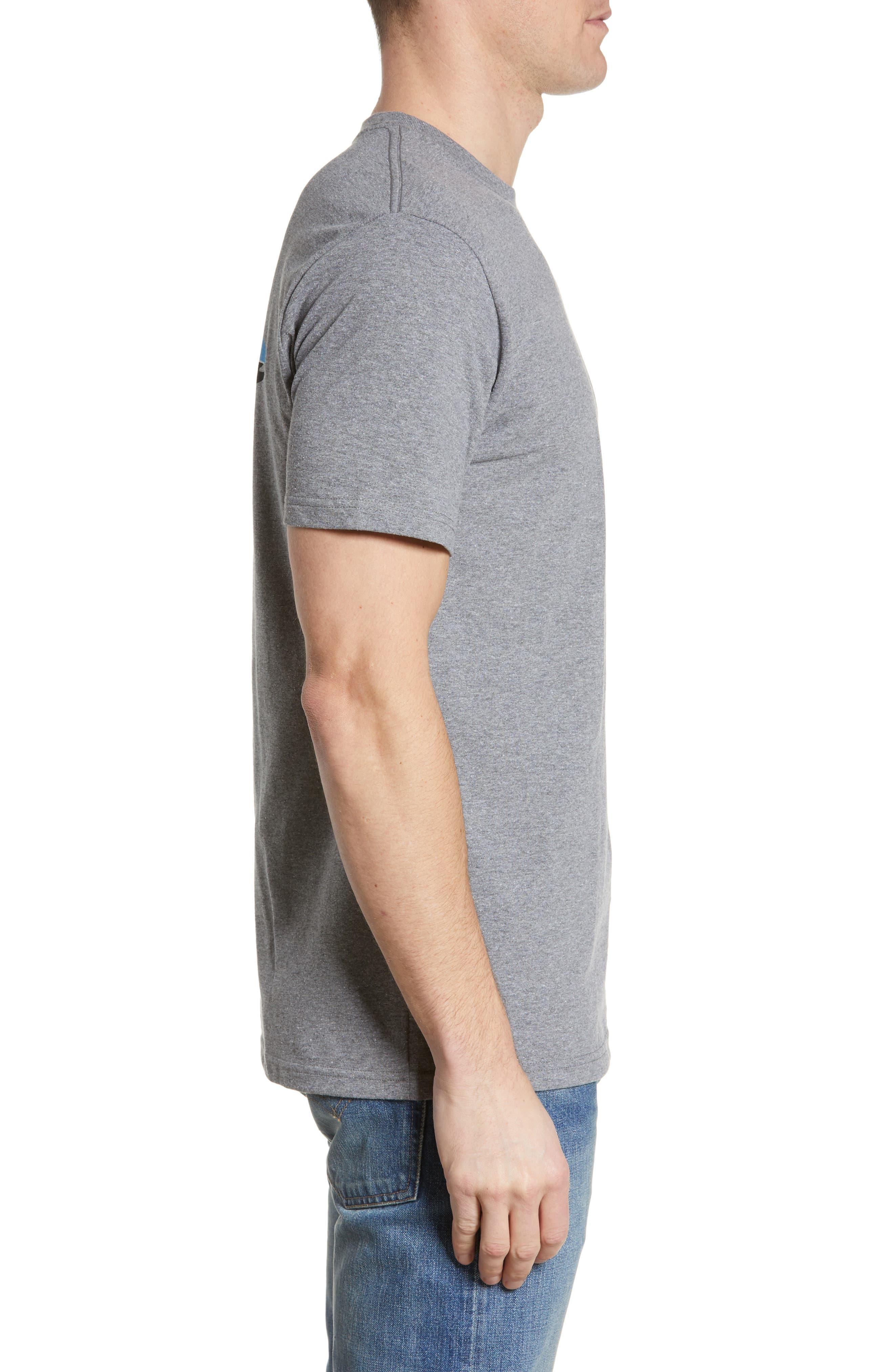 PATAGONIA,                             Fitz Roy Trout Crewneck T-Shirt,                             Alternate thumbnail 3, color,                             GRAVEL HEATHER
