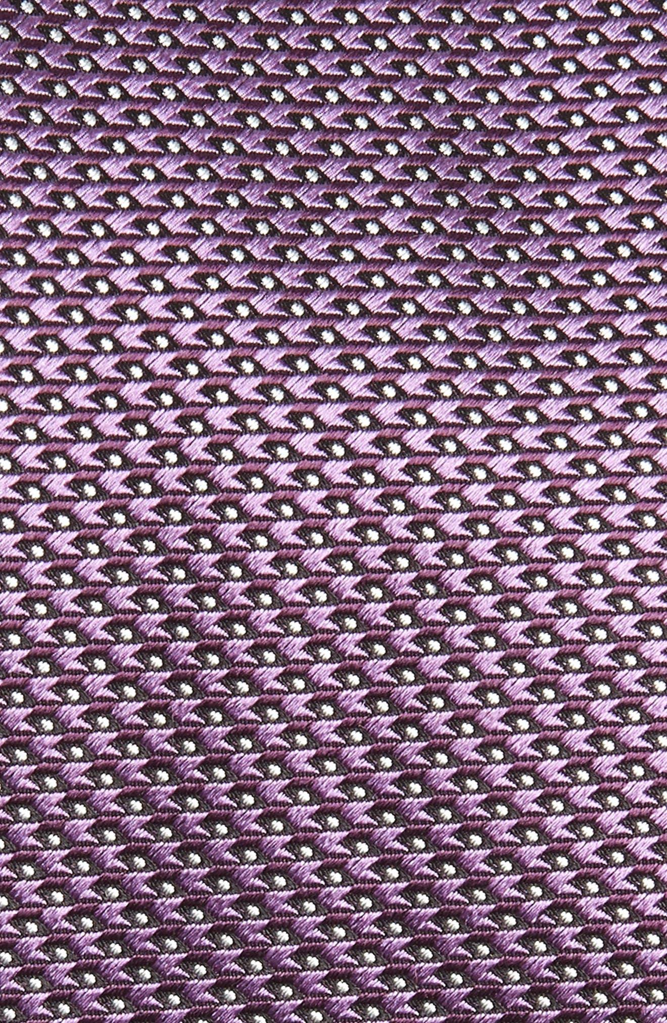 Solid Silk Tie,                             Alternate thumbnail 2, color,                             PURPLE
