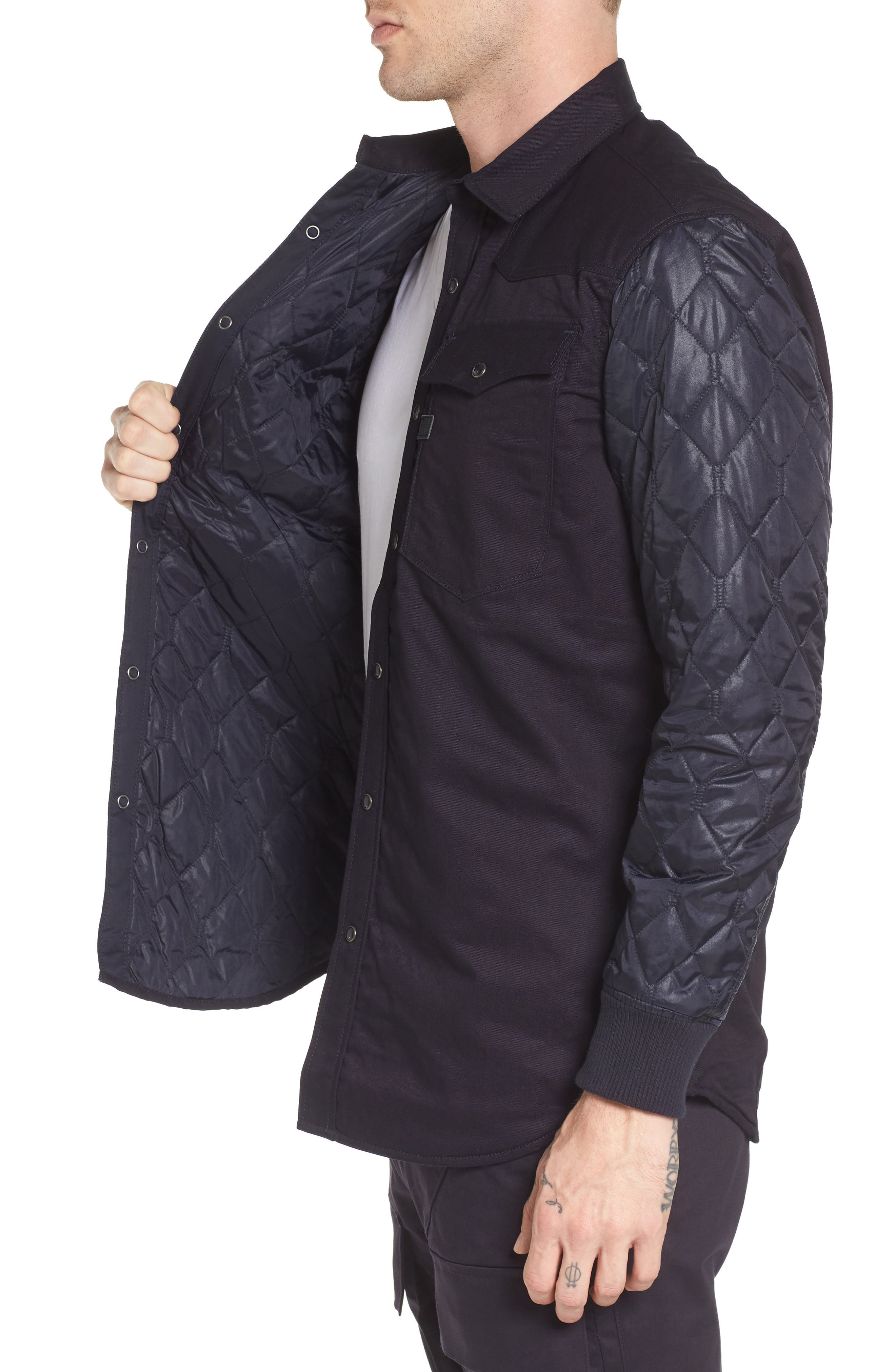 3301 HC Quilted Shirt Jacket,                             Alternate thumbnail 3, color,                             400
