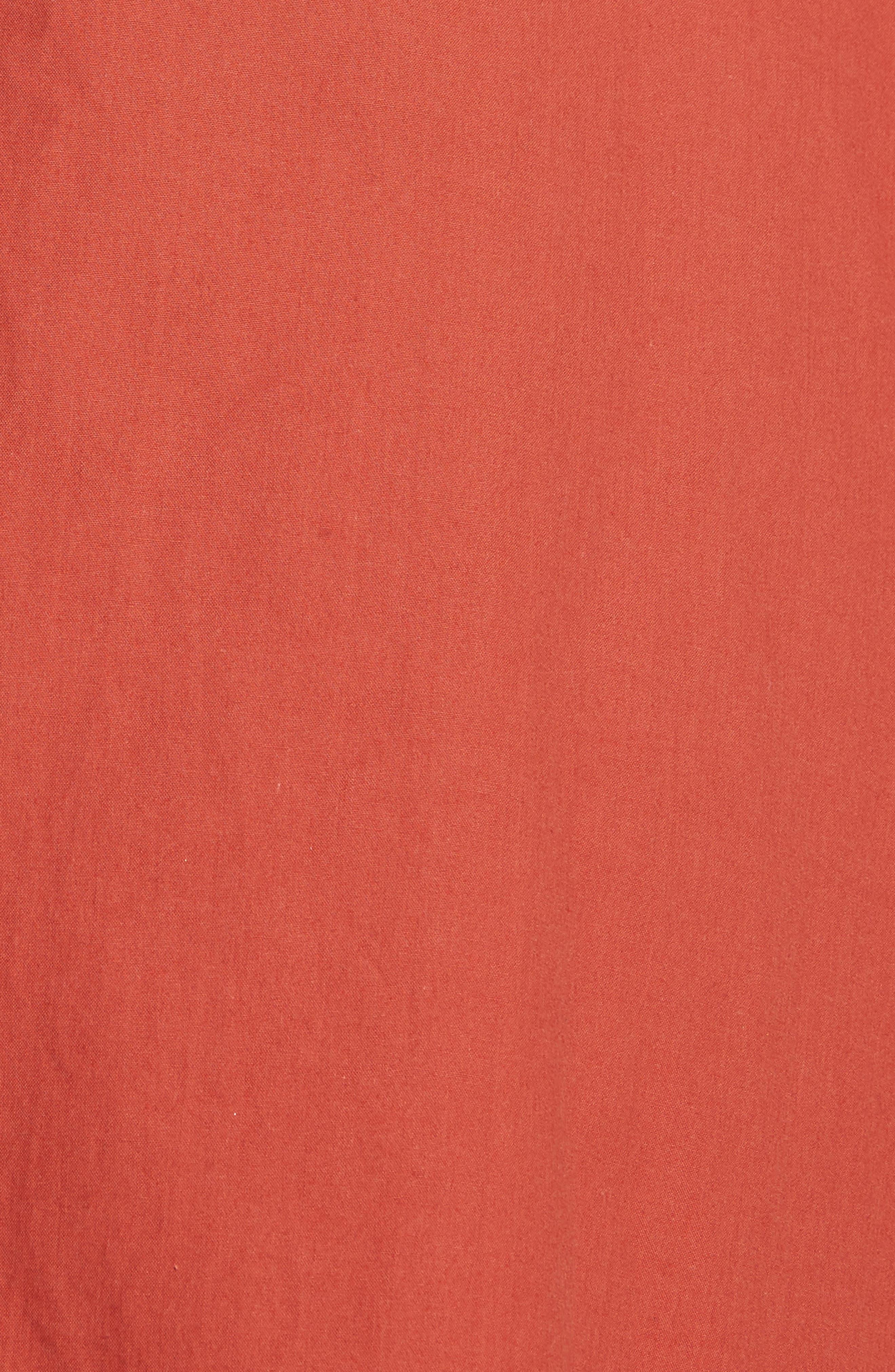 Maria Ruffle Hem Poplin Midi Dress,                             Alternate thumbnail 5, color,
