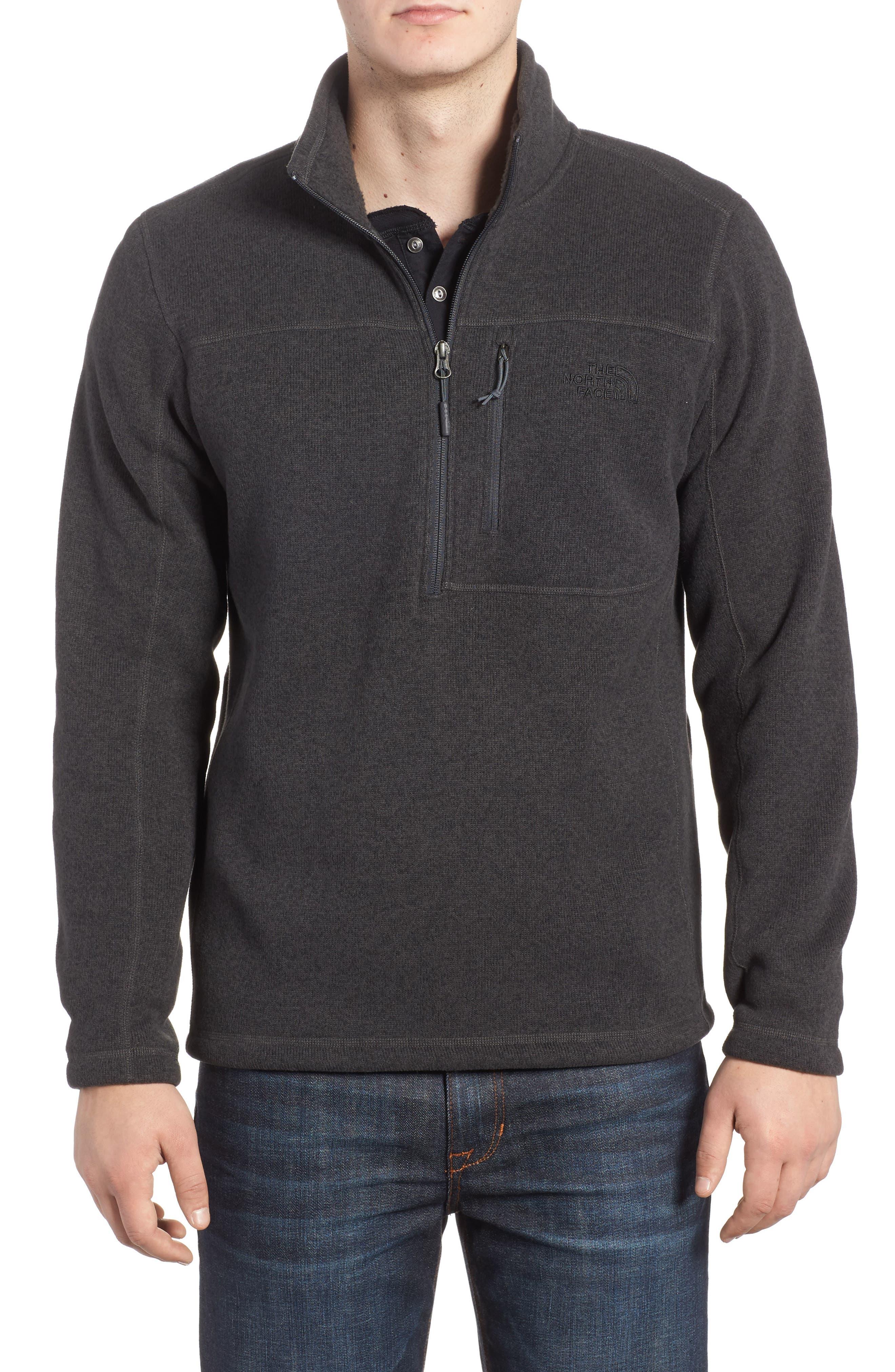 The North Face Gordon Lyons Quarter-Zip Fleece Jacket, Grey
