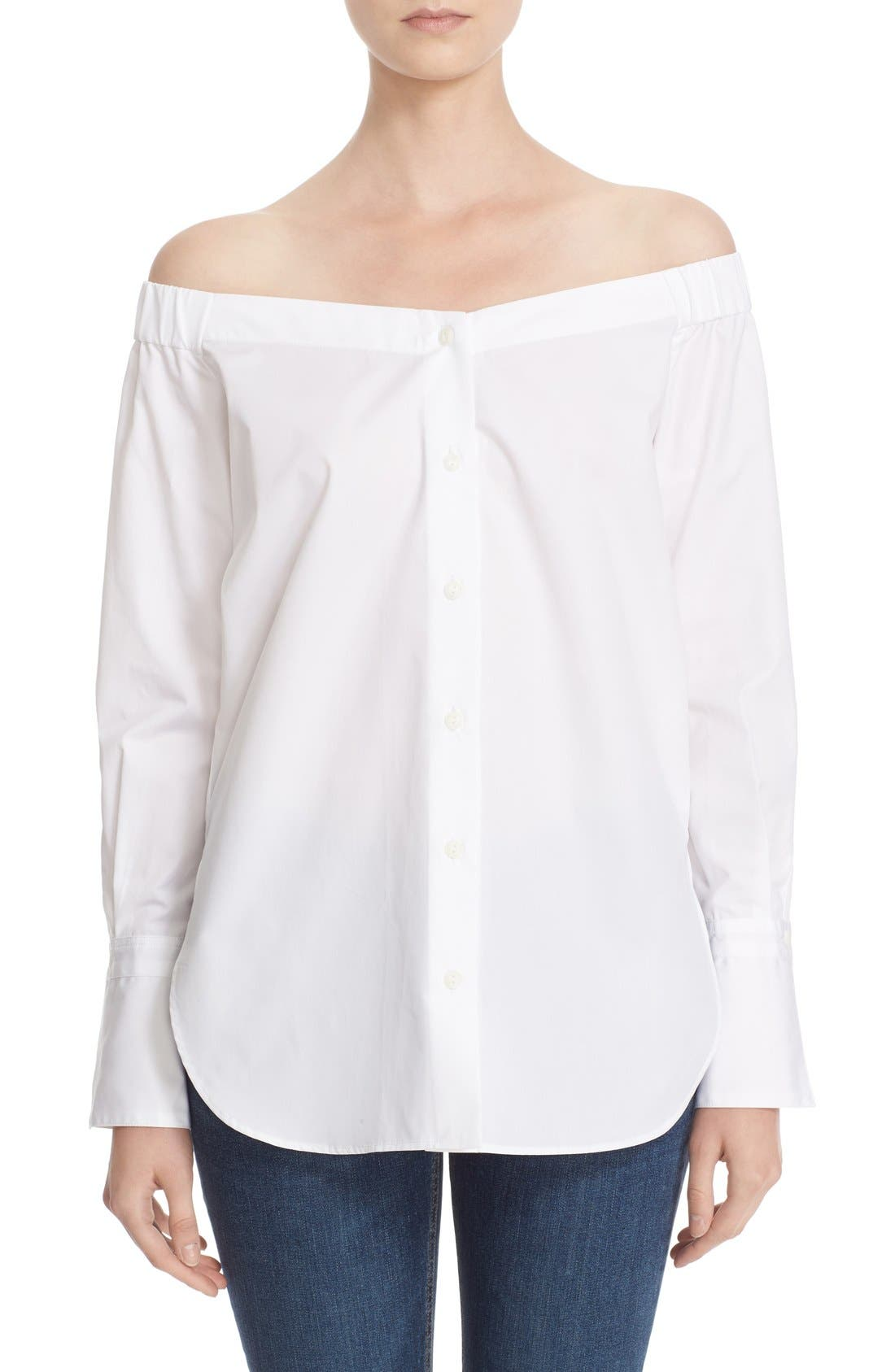 'Kacy' Reversible Off the Shoulder Tunic Top,                         Main,                         color, 100