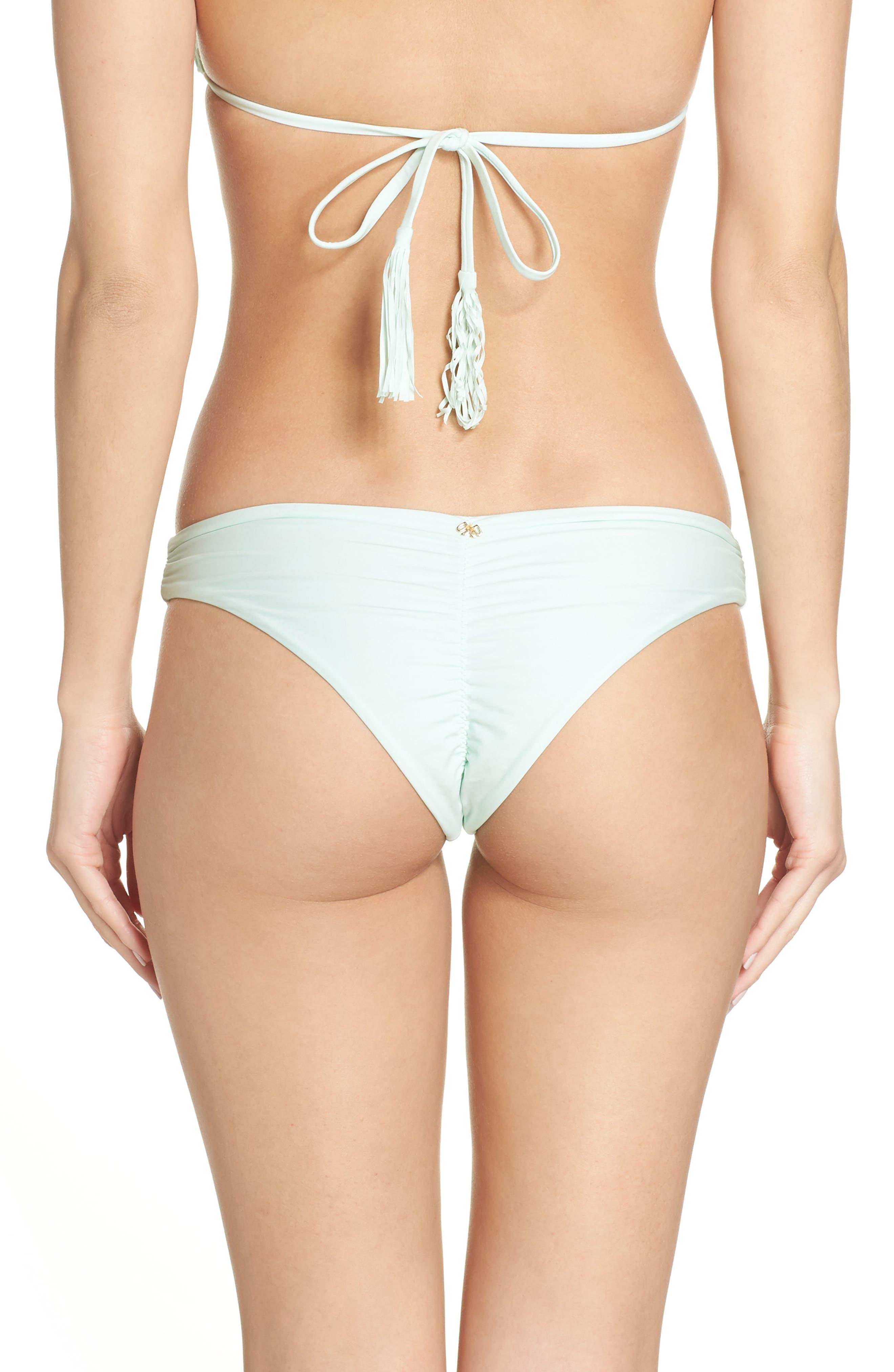 Ruched Bikini Bottoms,                             Alternate thumbnail 2, color,                             400