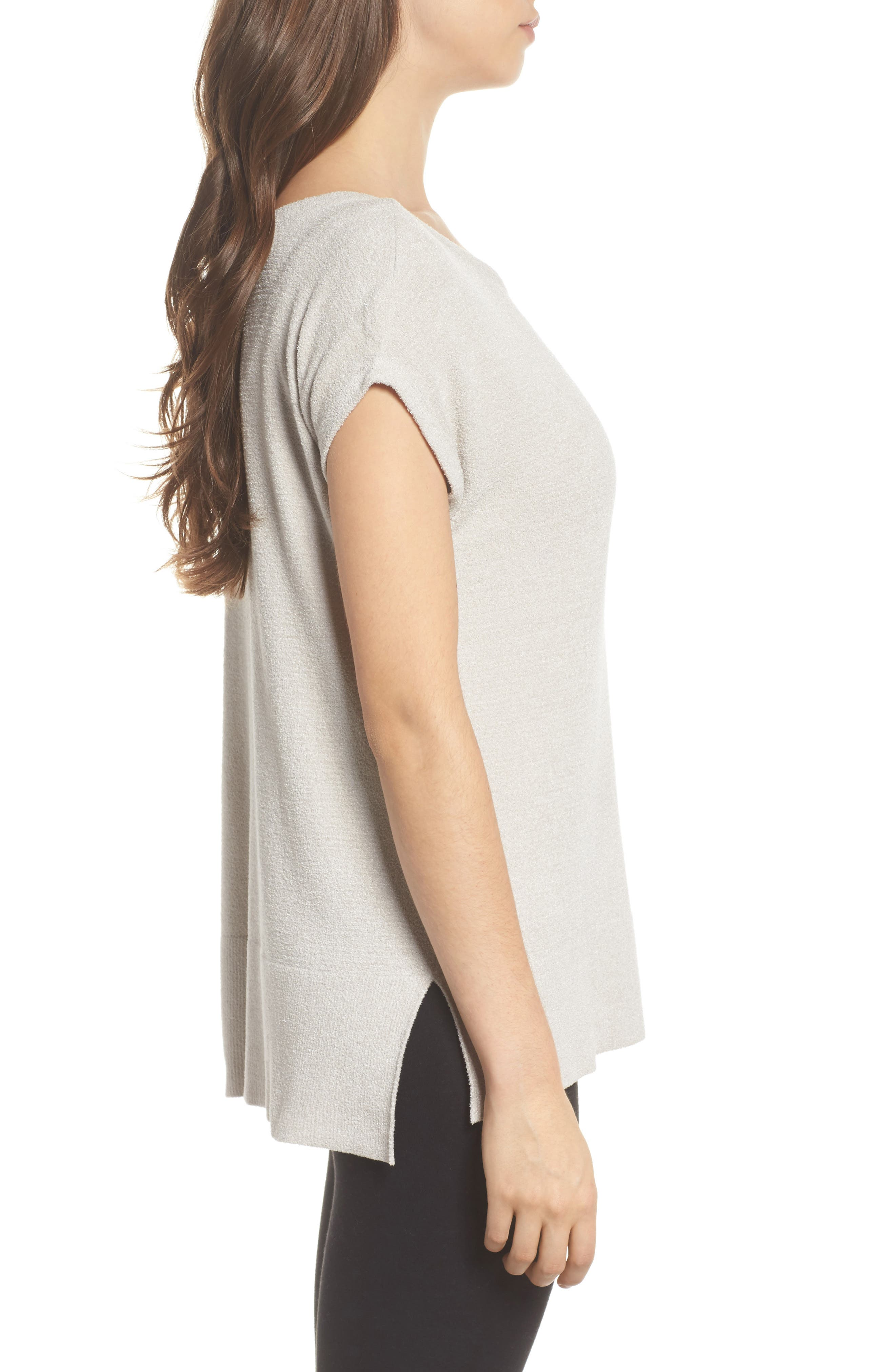 CozyChic Ultra Lite<sup>®</sup> Lounge Tee,                             Alternate thumbnail 3, color,                             FOG GRAY