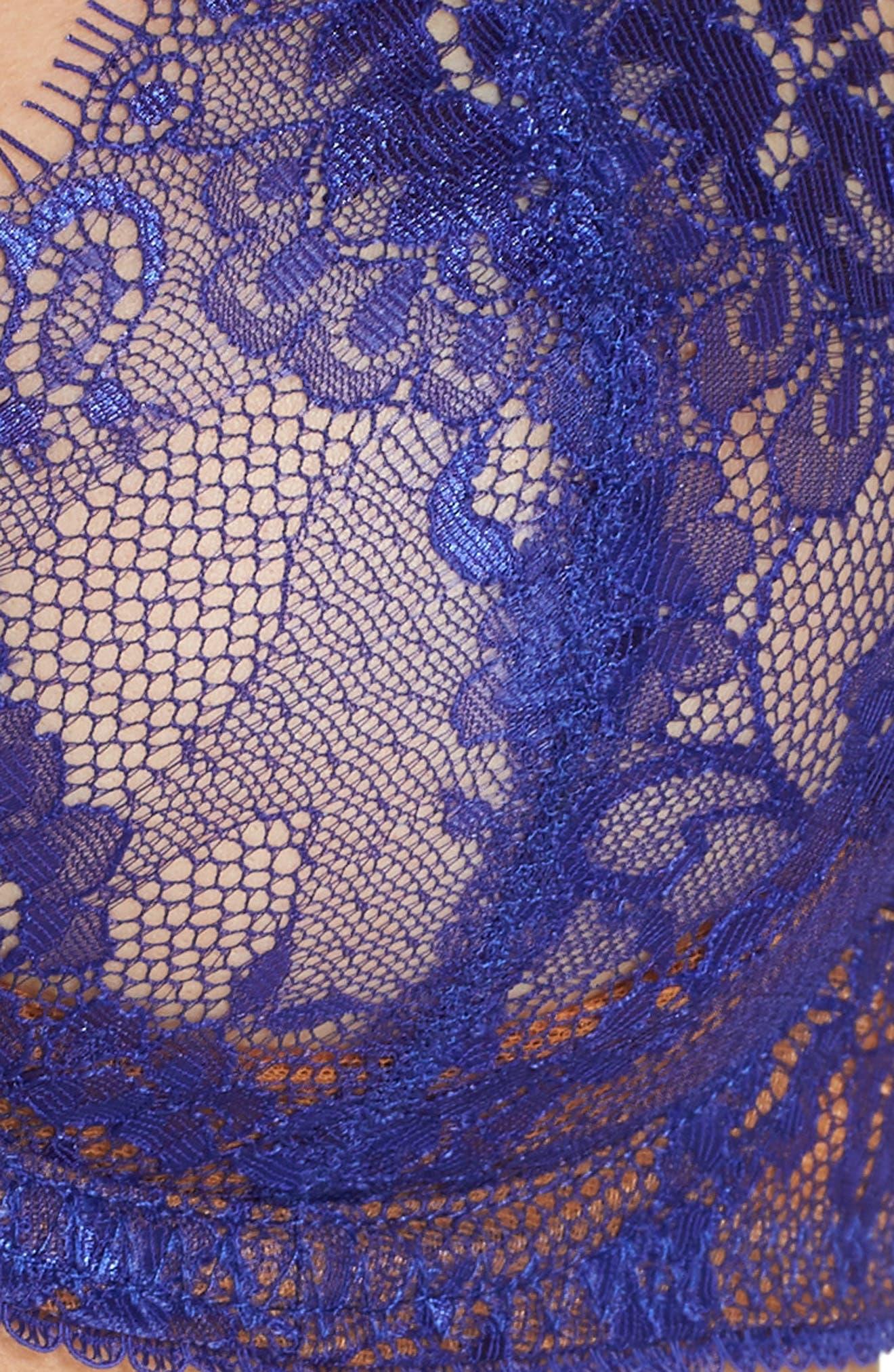 Savior Faire Sheers Underwire Lace Bra,                             Alternate thumbnail 6, color,                             ELECTRIC/ COPPER