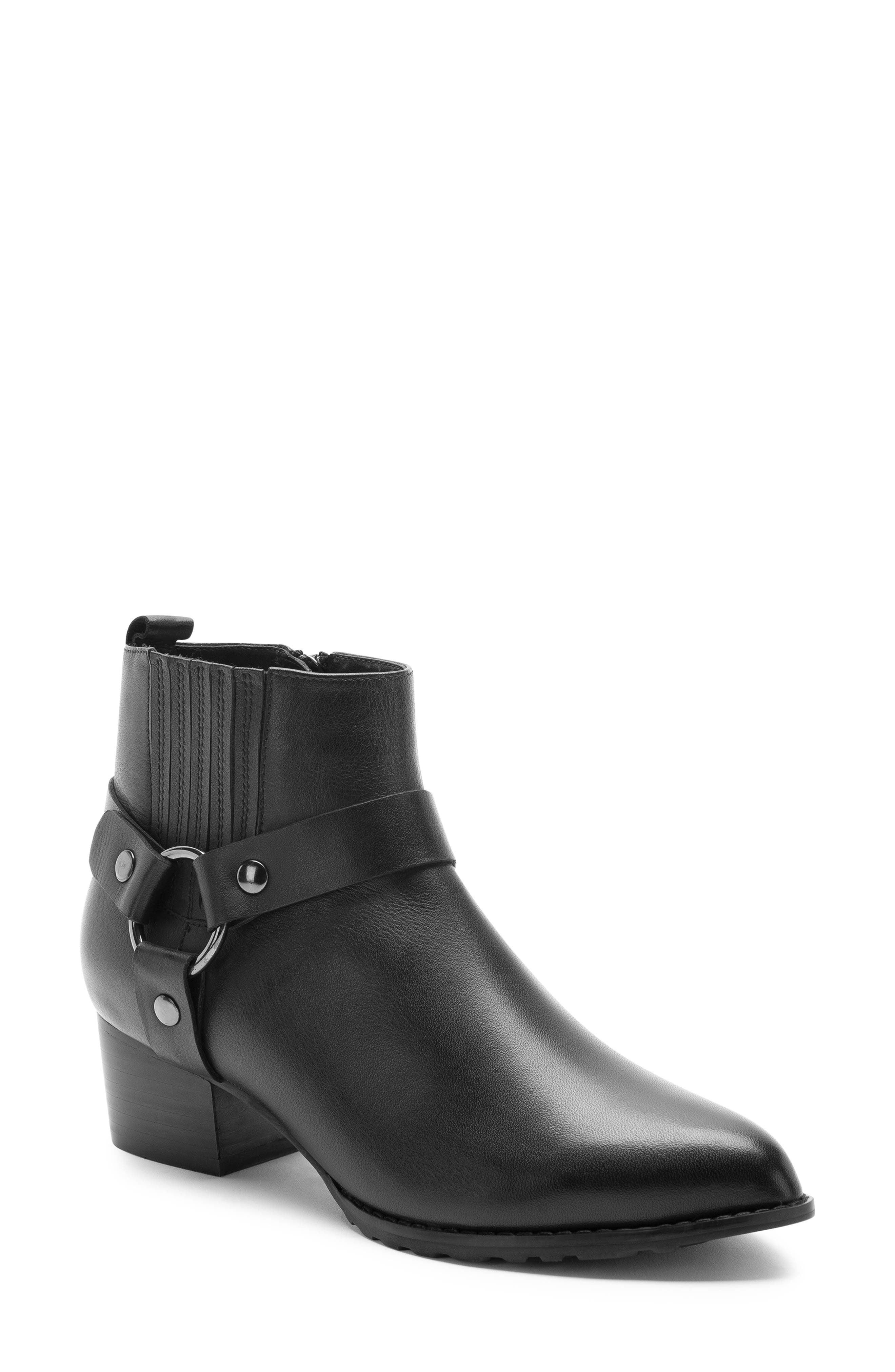 Tasha Waterproof Bootie,                             Main thumbnail 1, color,                             BLACK LEATHER