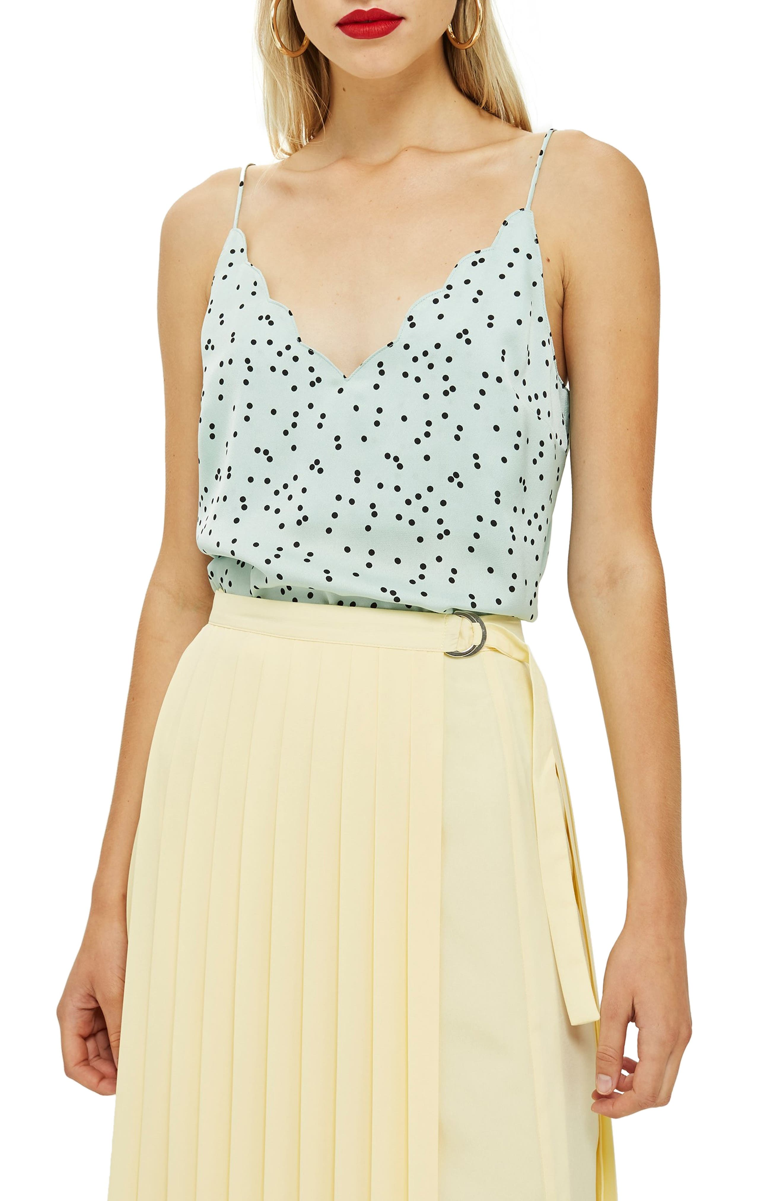Patterned Camisole,                         Main,                         color, MINT